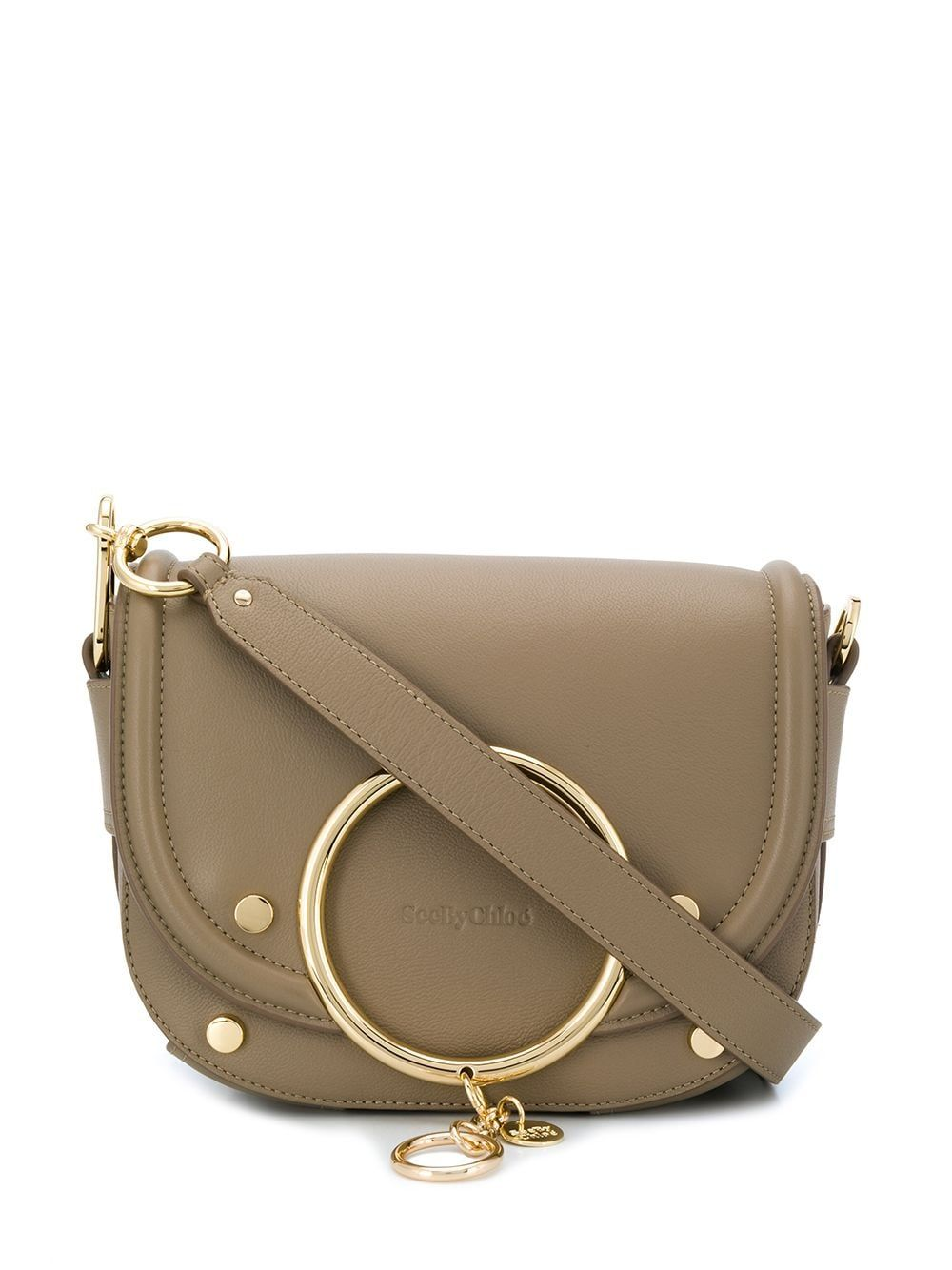 See By Chloé SEE BY CHLO WOMEN'S CHS19WSA2938823W GREY LEATHER SHOULDER BAG