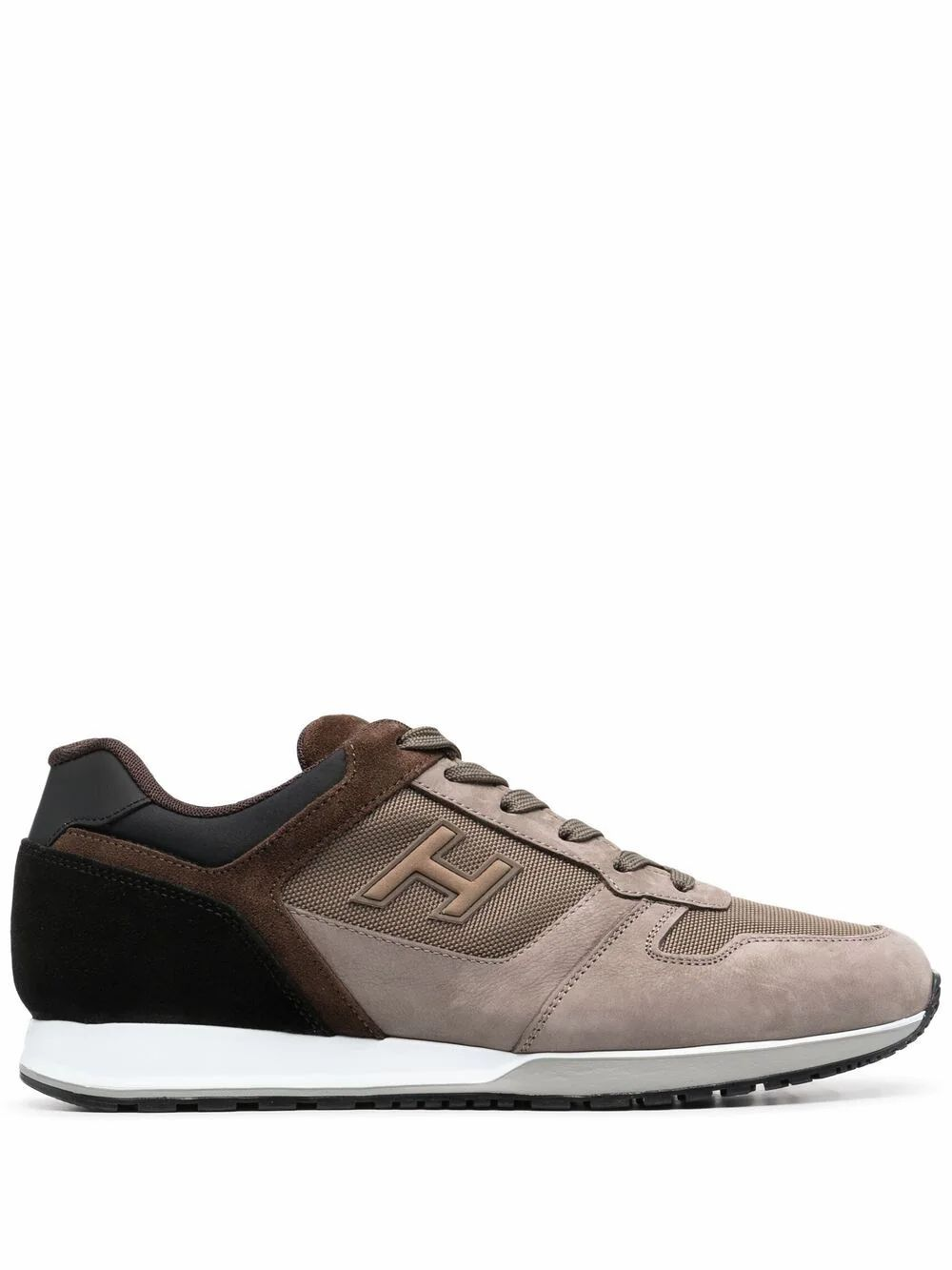 Hogan Suedes HOGAN MEN'S HXM3210Y860P9S845Z BEIGE LEATHER SNEAKERS