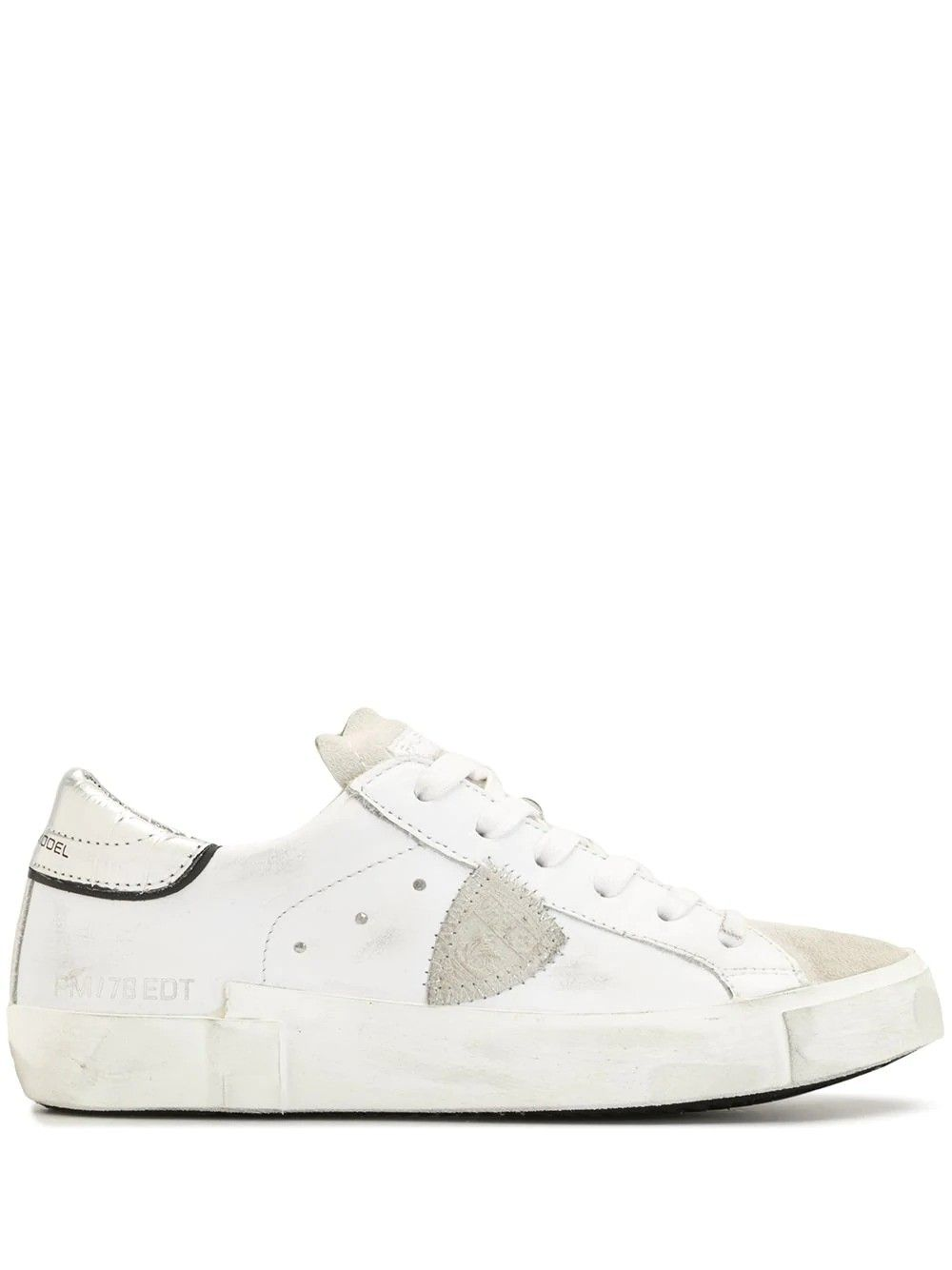 Philippe Model PHILIPPE MODEL WOMEN'S PRLDVC02 WHITE LEATHER SNEAKERS