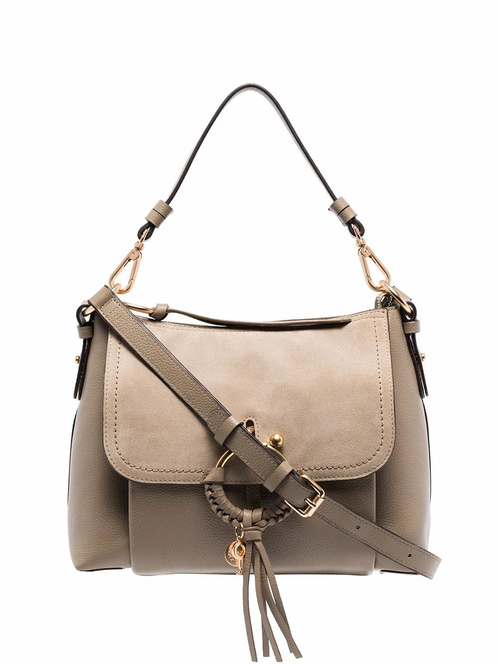 See By Chloé SEE BY CHLO WOMEN'S CHS17US91033023W GREY LEATHER HANDBAG