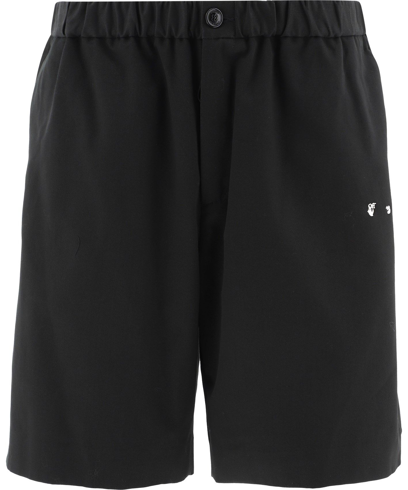Off-White Shorts OFF-WHITE MEN'S OMCB049S21FAB0011001 BLACK OTHER MATERIALS SHORTS