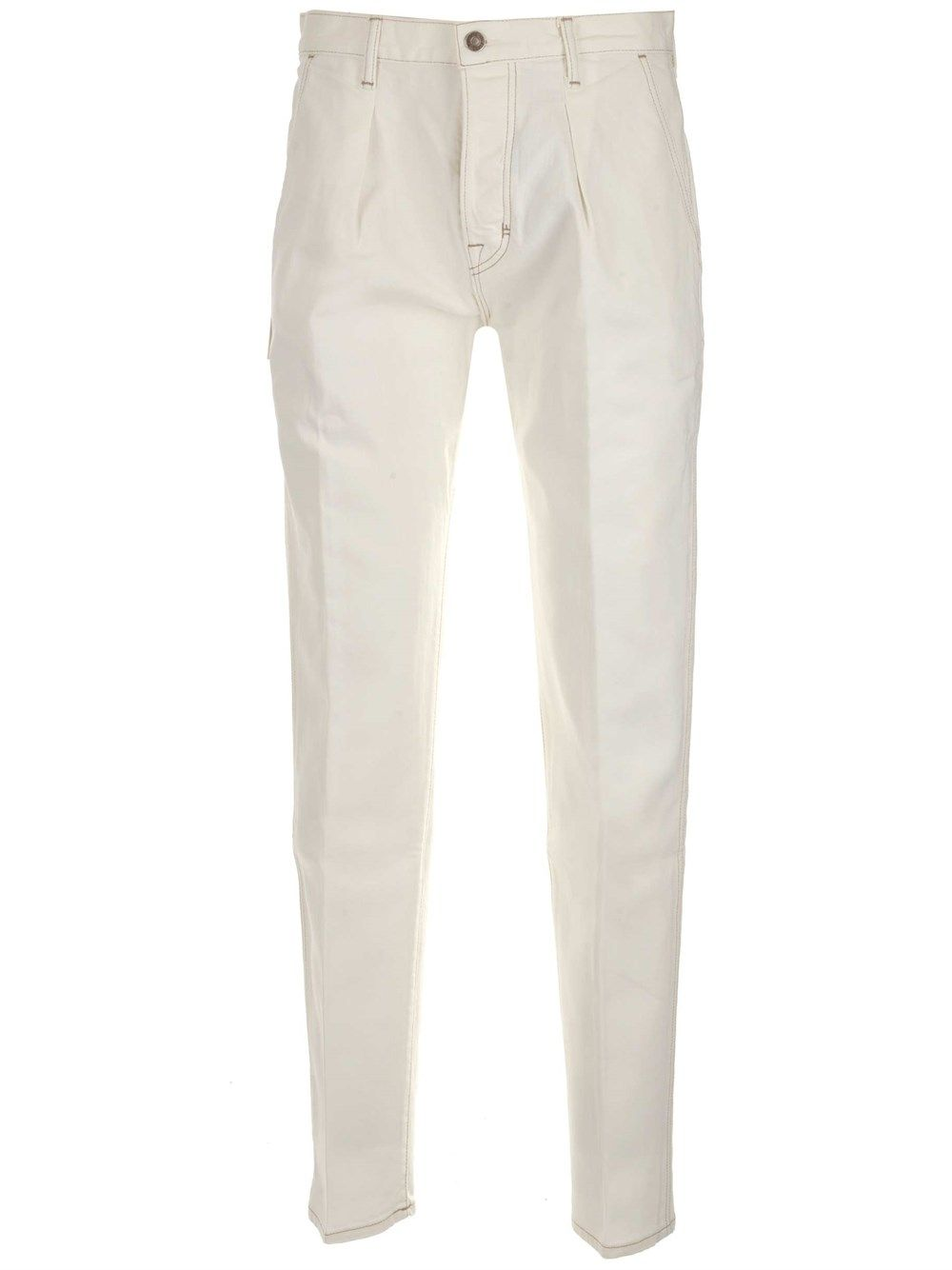Tom Ford TOM FORD MEN'S BWJ43TFD021N21 WHITE OTHER MATERIALS PANTS