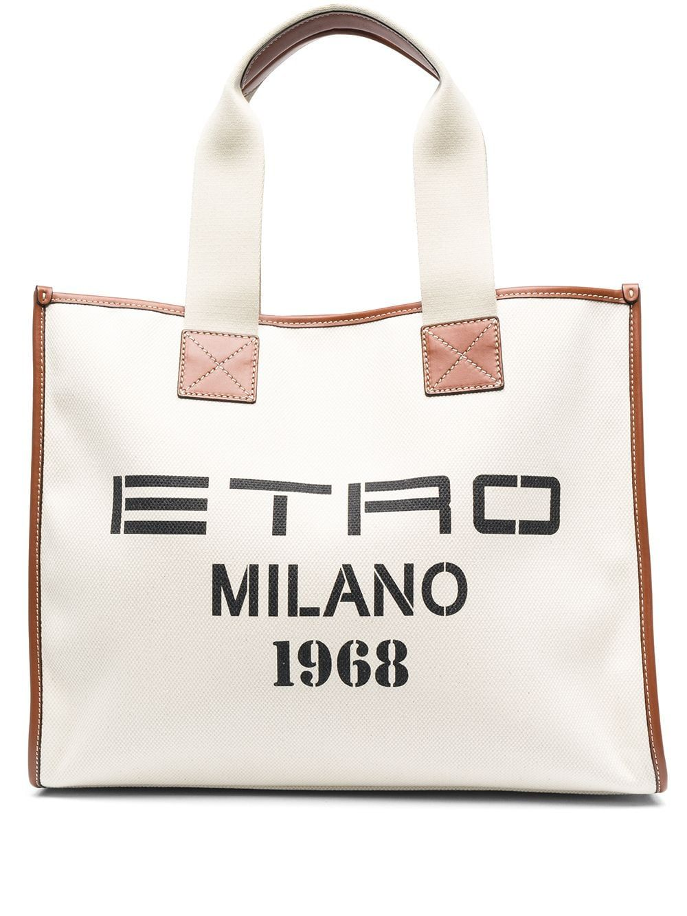 Etro Leathers ETRO WOMEN'S 1N49388950990 WHITE COTTON TOTE