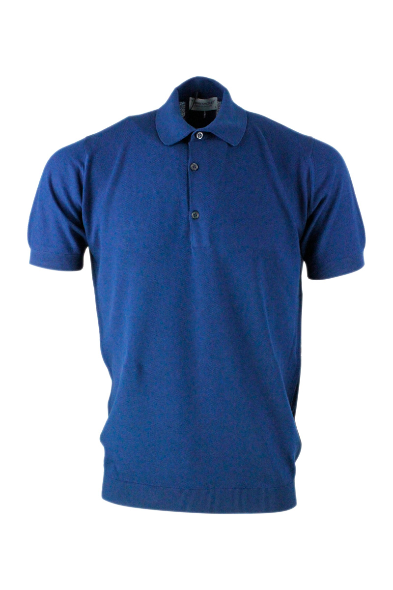 John Smedley Cottons T-SHIRTS AND POLOS BLUE