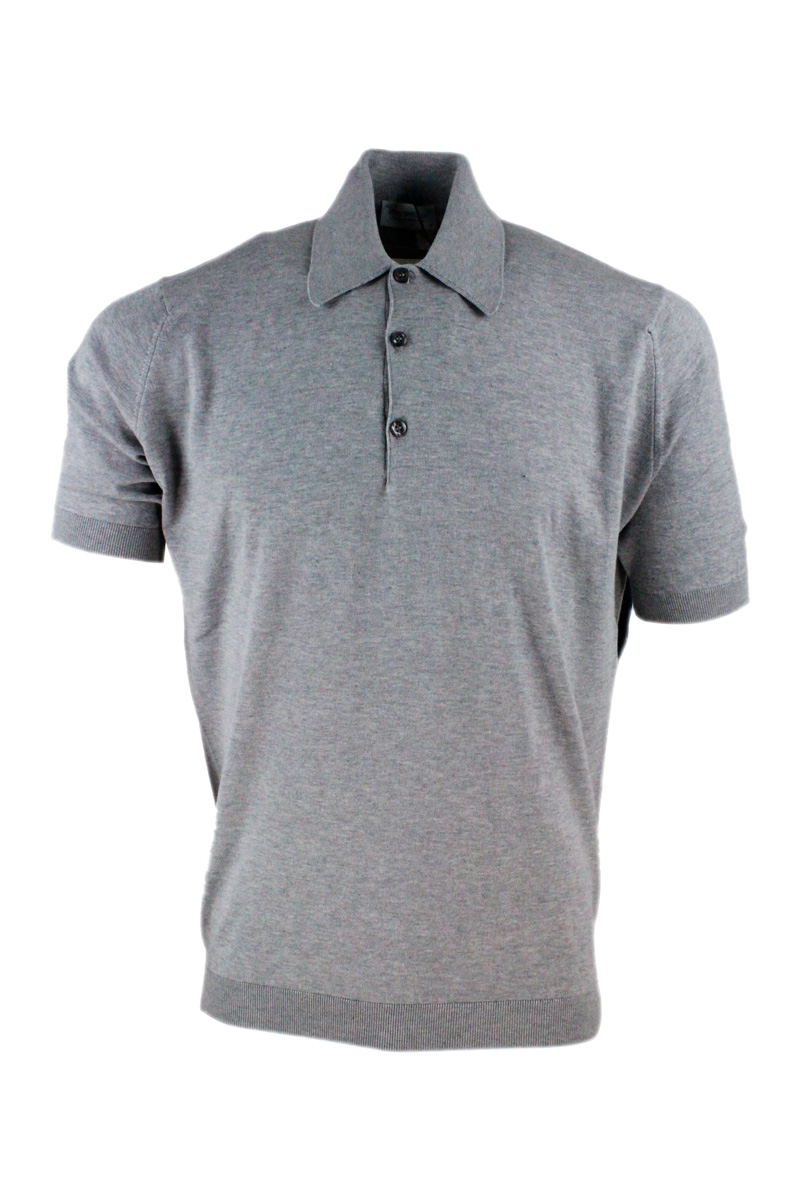 John Smedley Cottons T-SHIRTS AND POLOS GREY