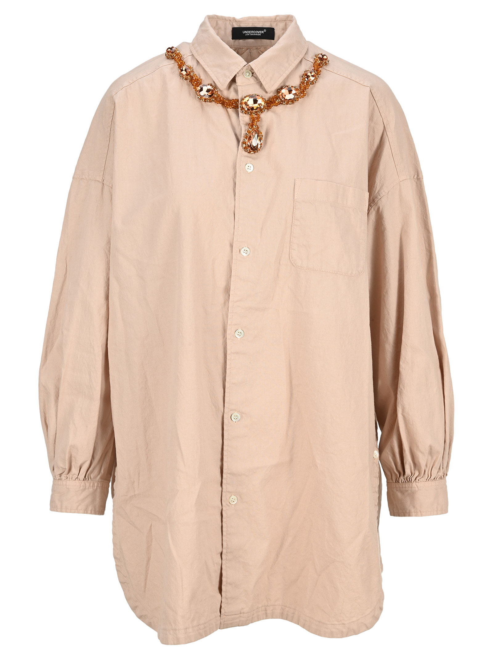 Undercover CRYSTAL NECKLACE OVERSHIRT