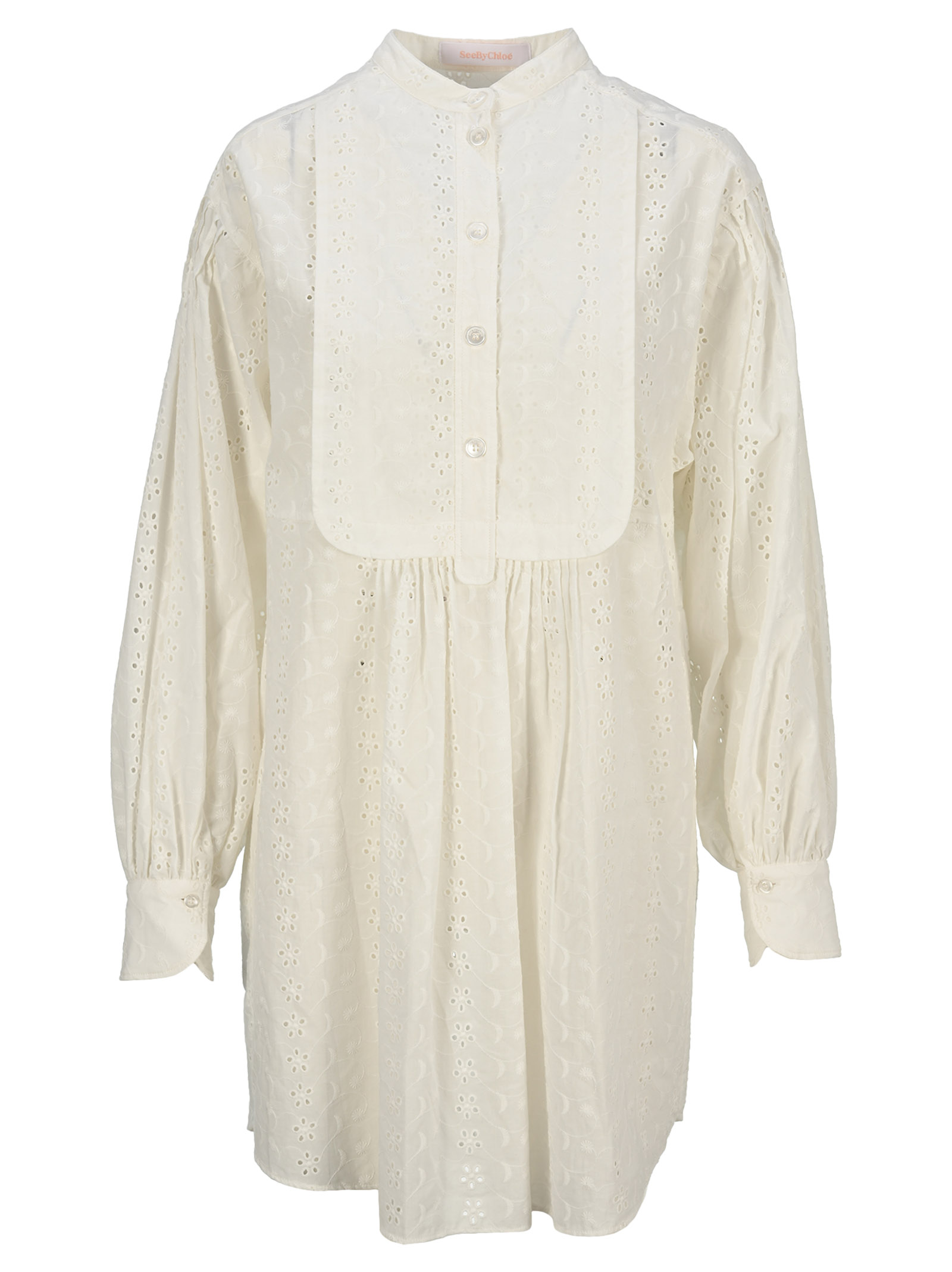 See By Chloé Dresses BRODERIE ANGLAISE SHIRT DRESS