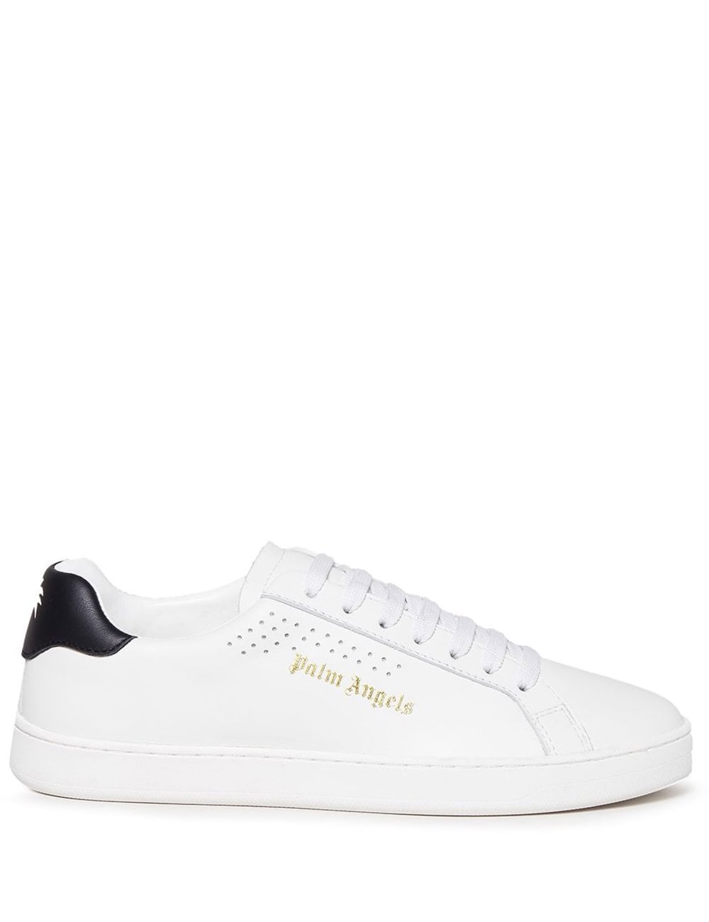 Palm Angels PALM ANGELS WOMEN'S NEW TENNIS SNEAKERS WHITE BLACK COLOUR: WHITE