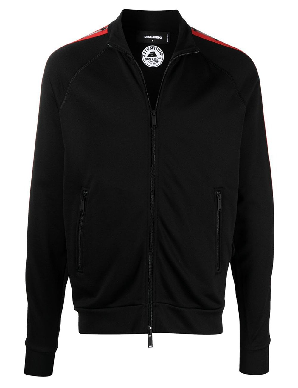Dsquared2 DSQUARED2 TECHNO TAPE TRACK JACKET BLACK COLOUR: BLACK