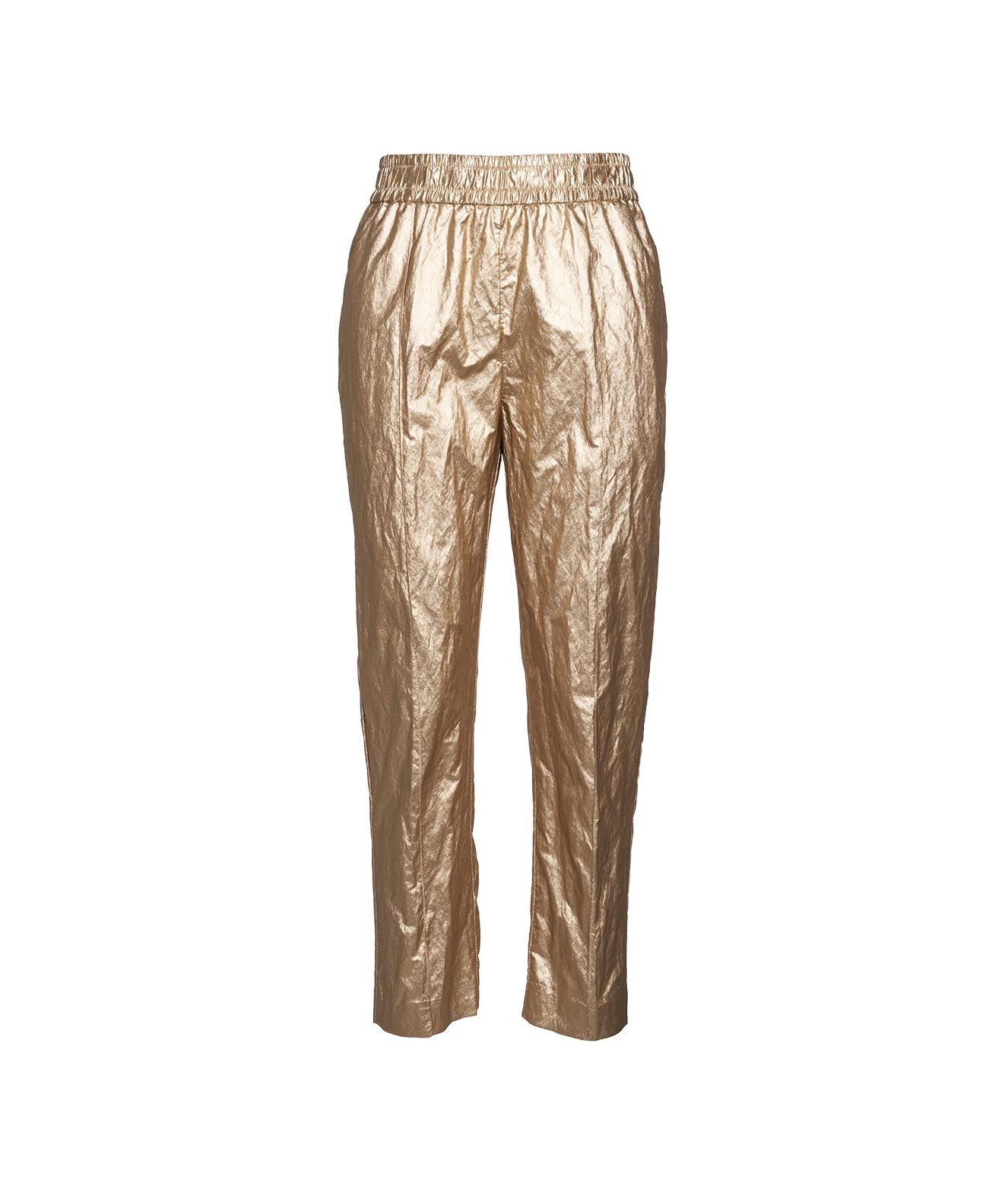 Nude ECO-LEATHER TROUSERS