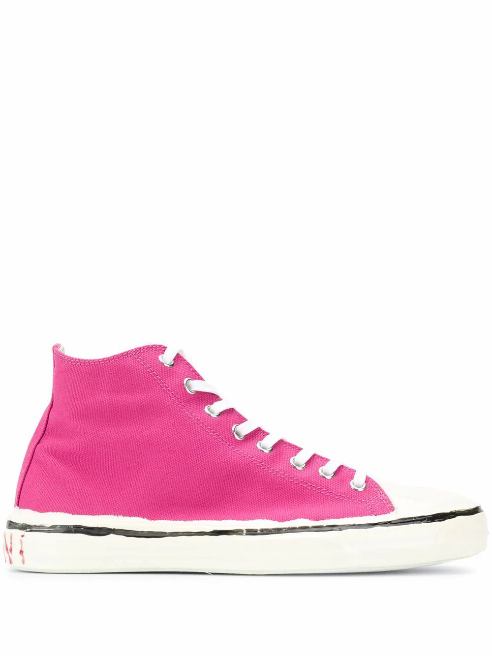 Marni MARNI WOMEN'S SNZW006602P3571ZN069 PINK COTTON HI TOP SNEAKERS