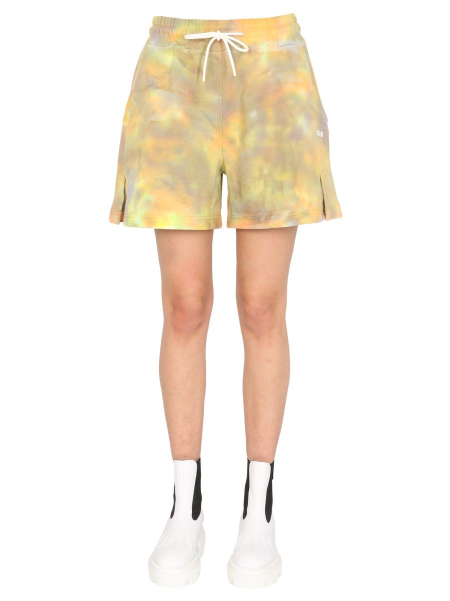 Msgm WOMEN'S 3041MDB6121729503 MULTICOLOR OTHER MATERIALS SHORTS