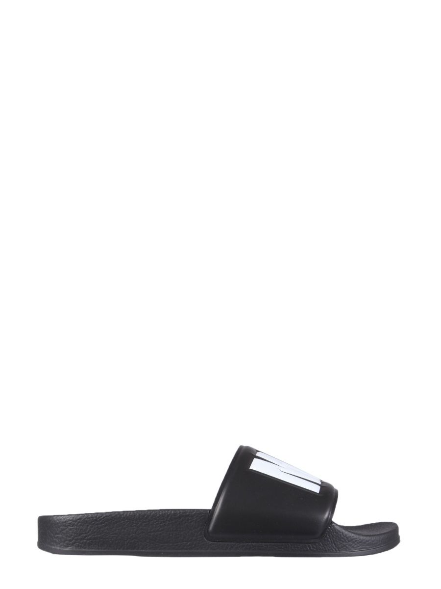 Msgm MEN'S 3040MS1510030099 BLACK OTHER MATERIALS SANDALS