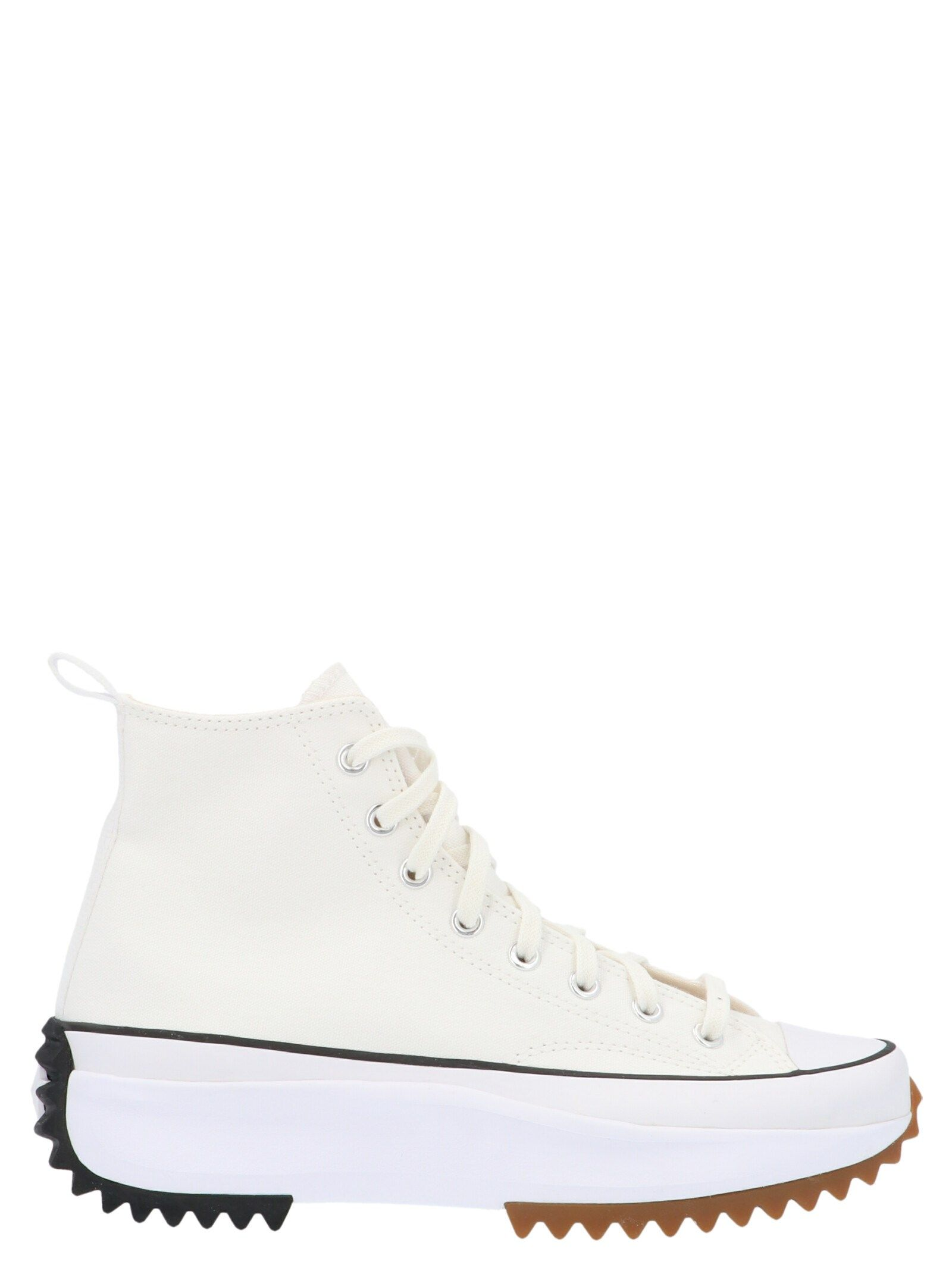 Converse Mid heels CONVERSE WOMEN'S 166799C WHITE FABRIC HI TOP SNEAKERS