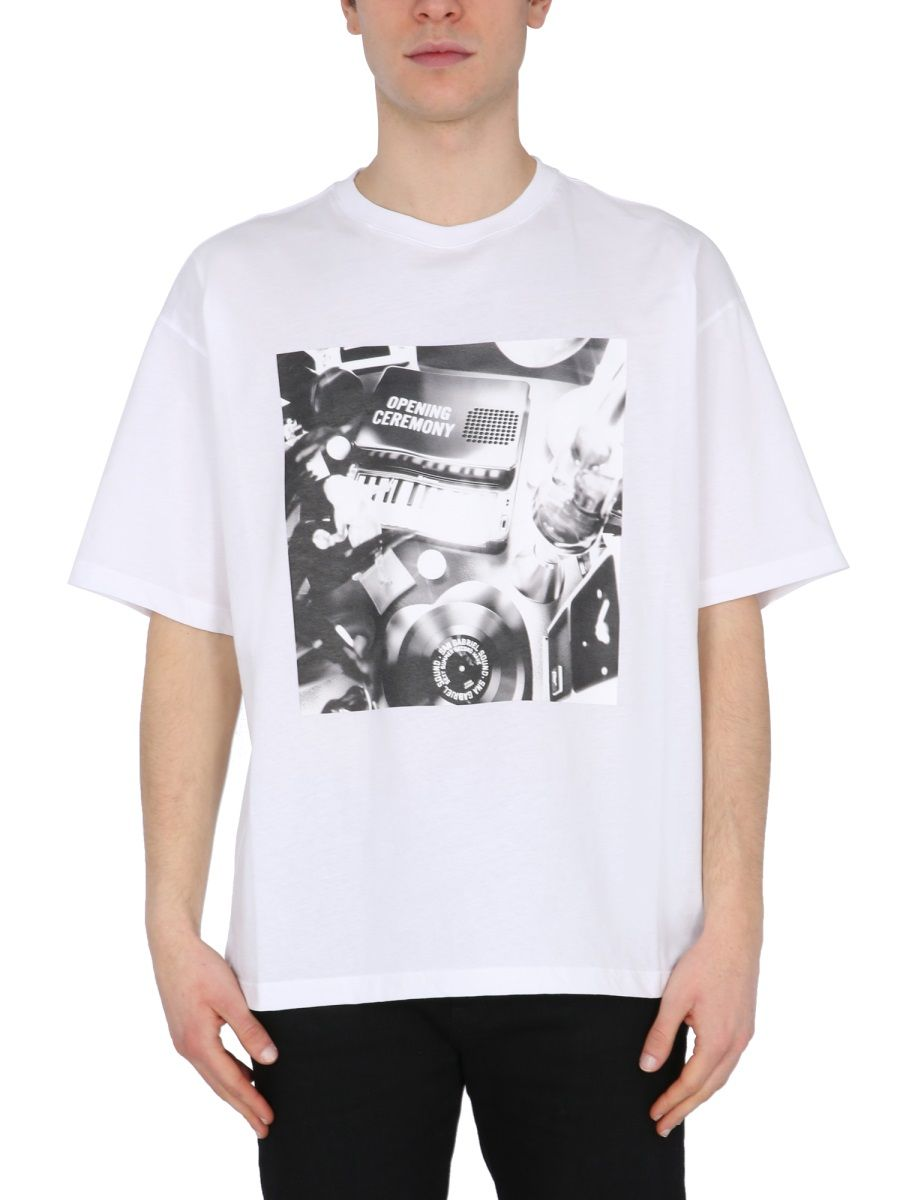 Opening Ceremony Clothing OPENING CEREMONY MEN'S YMAA001S21JER0050111 WHITE OTHER MATERIALS T-SHIRT