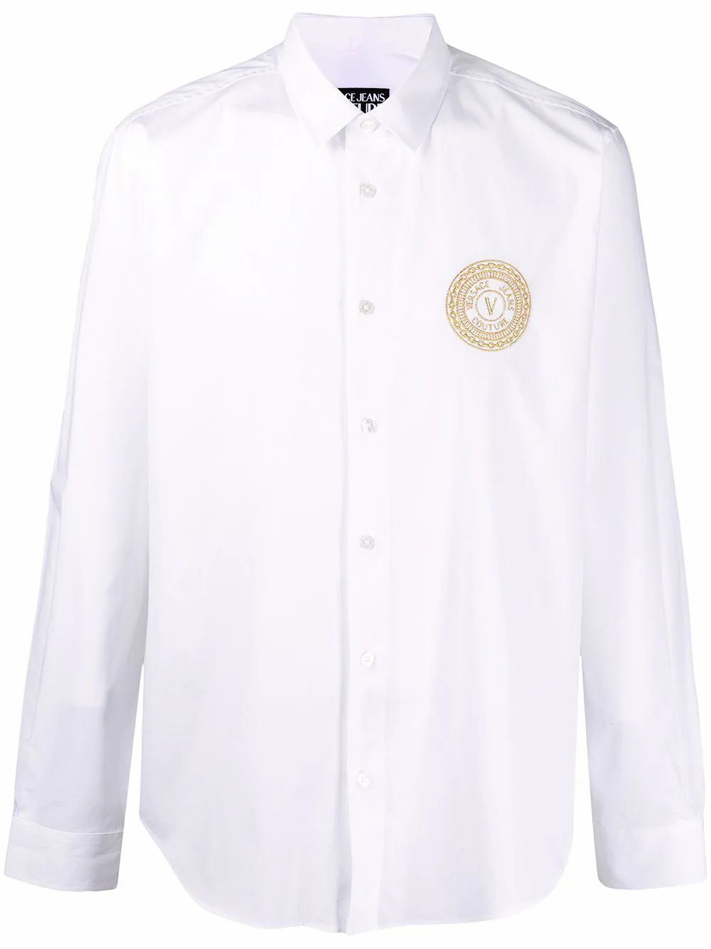 Versace Jeans Couture VERSACE JEANS MEN'S B1GWA6S430421003 WHITE COTTON SHIRT