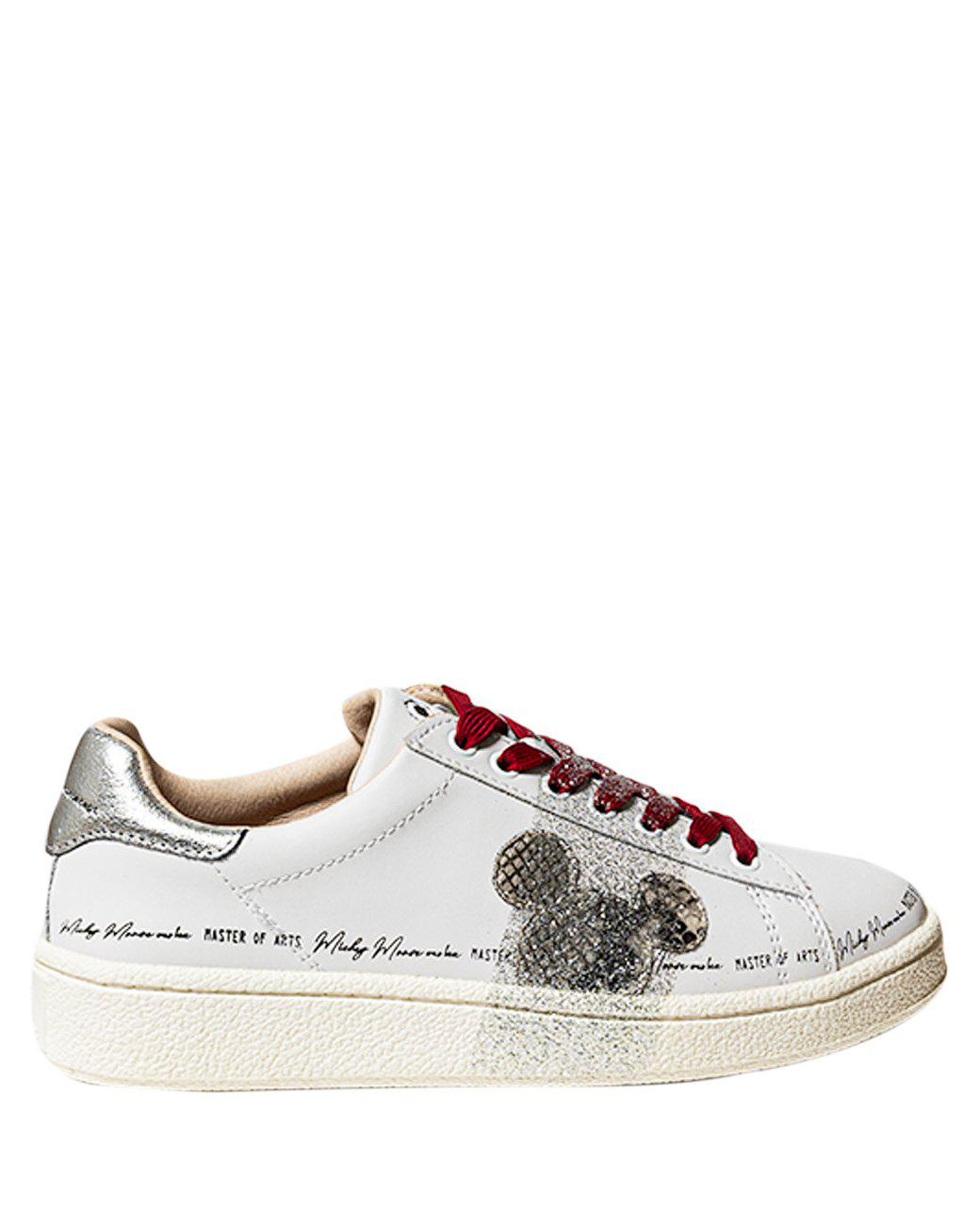 Moa Master Of Arts Sports MICKEY MOUSE LEATHER SNEAKERS