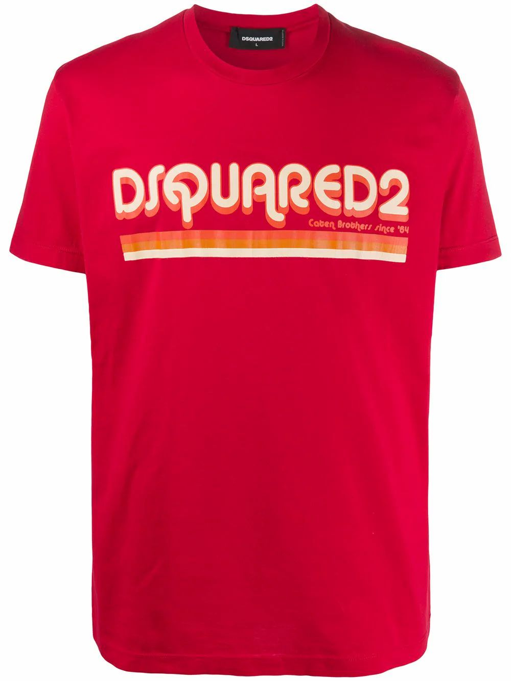 Dsquared2 DSQUARED2 MEN'S S71GD0887S22427312 RED COTTON T-SHIRT