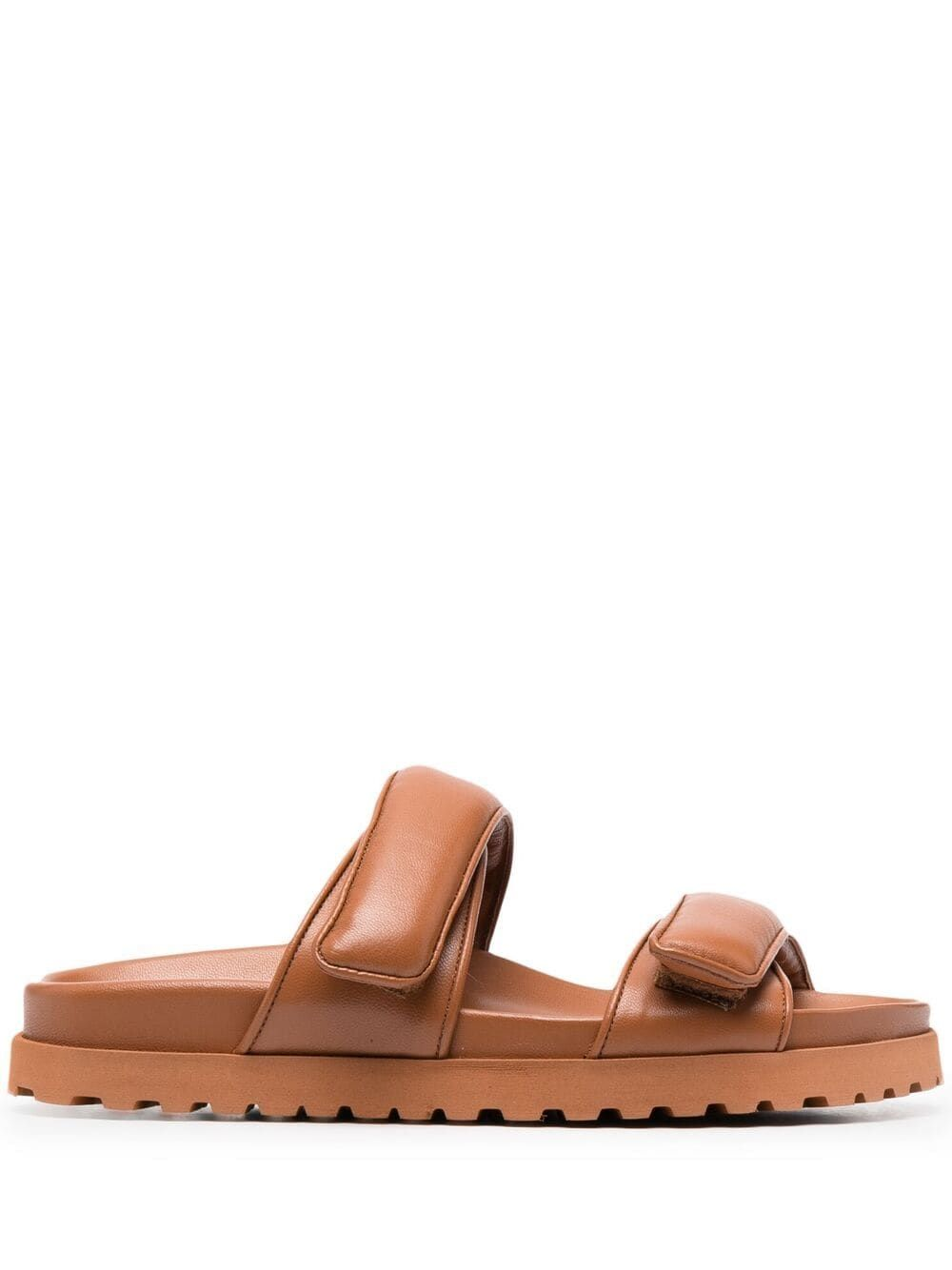 Gia Couture GIA COUTURE WOMEN'S PERNI1104A2 BROWN LEATHER SANDALS