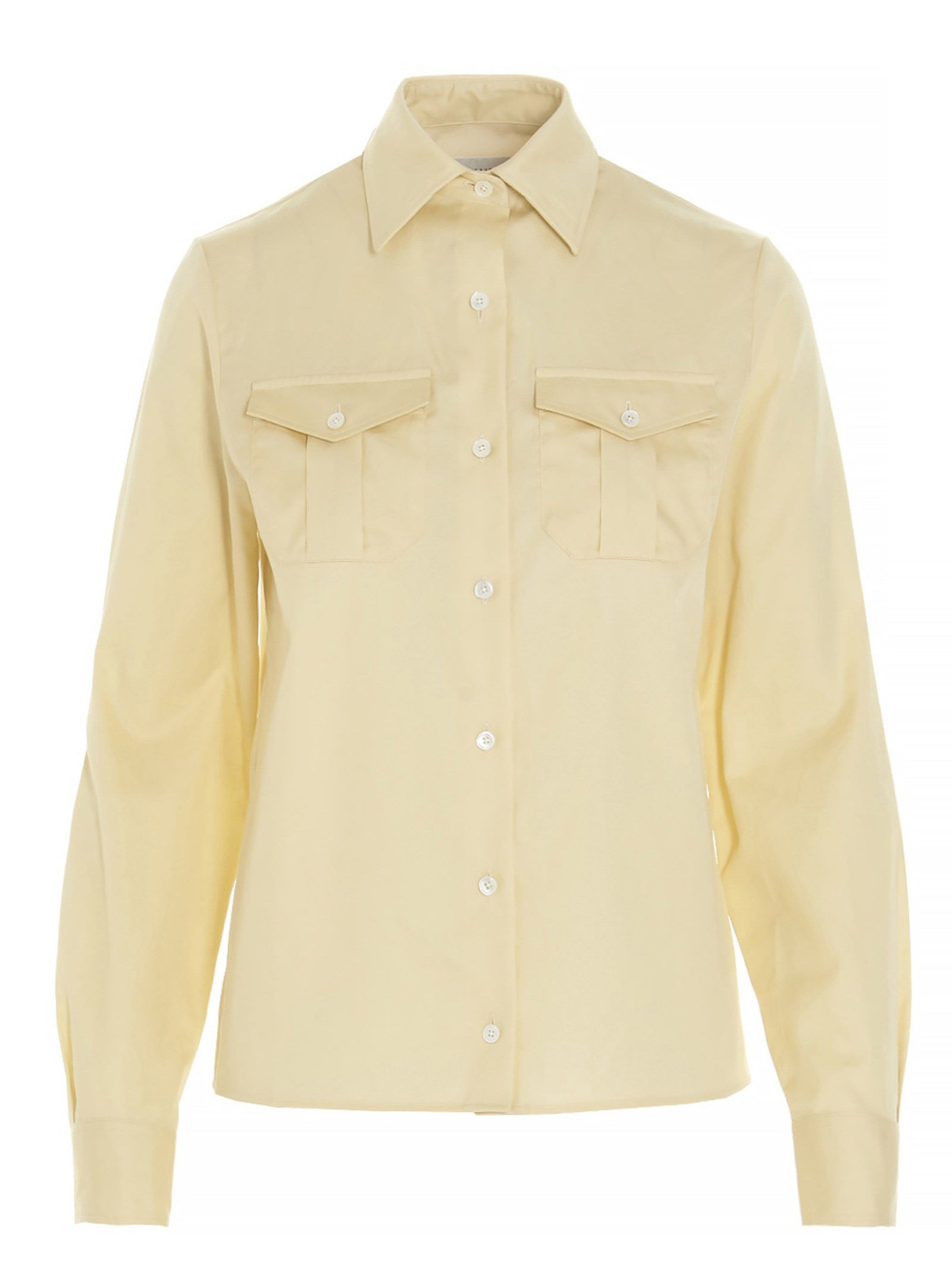 Lemaire LEMAIRE WOMEN'S W211SH264LF560507 YELLOW OTHER MATERIALS SHIRT