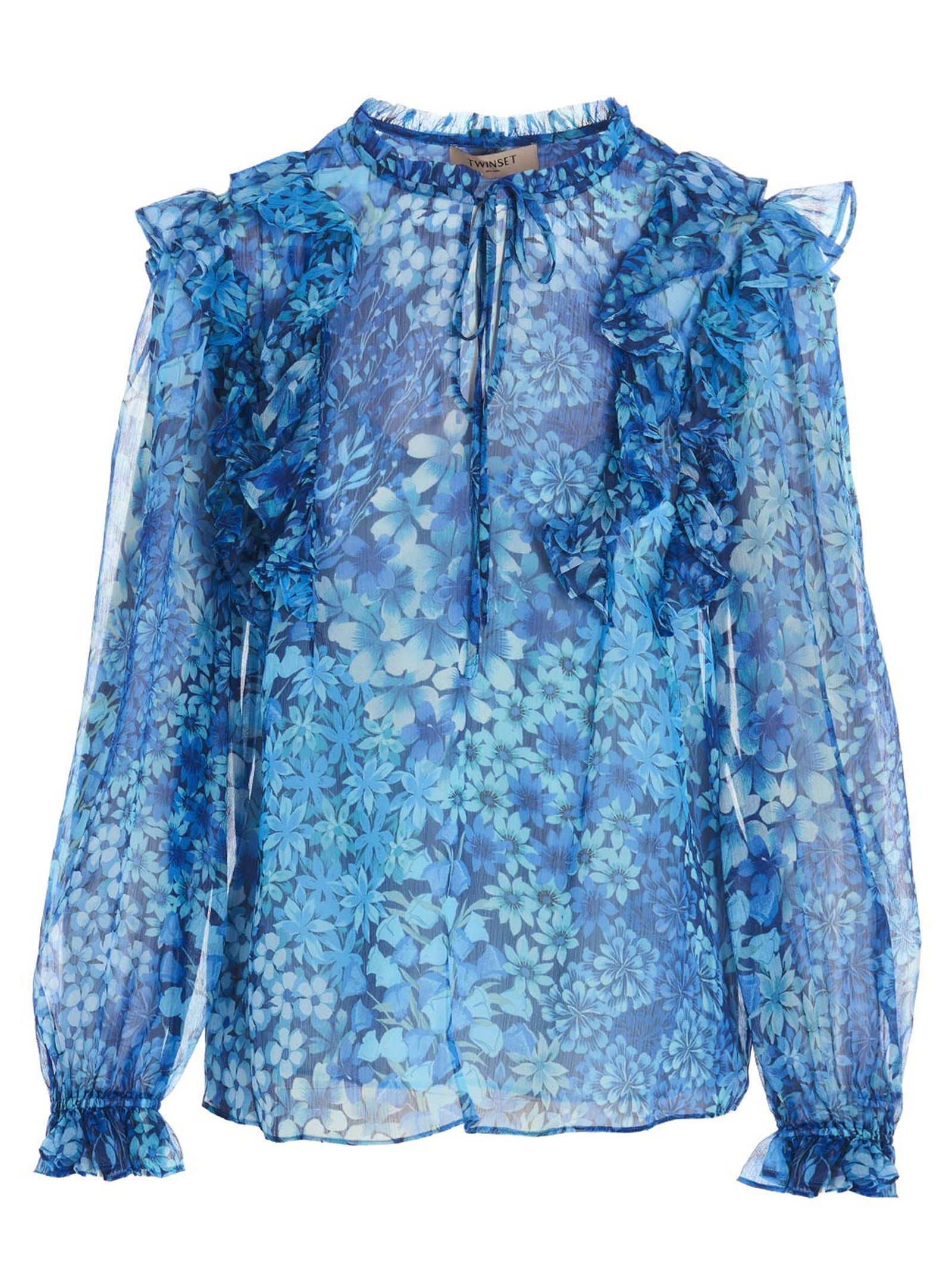 Twinset TWIN-SET WOMEN'S 211TT244306036 MULTICOLOR OTHER MATERIALS BLOUSE