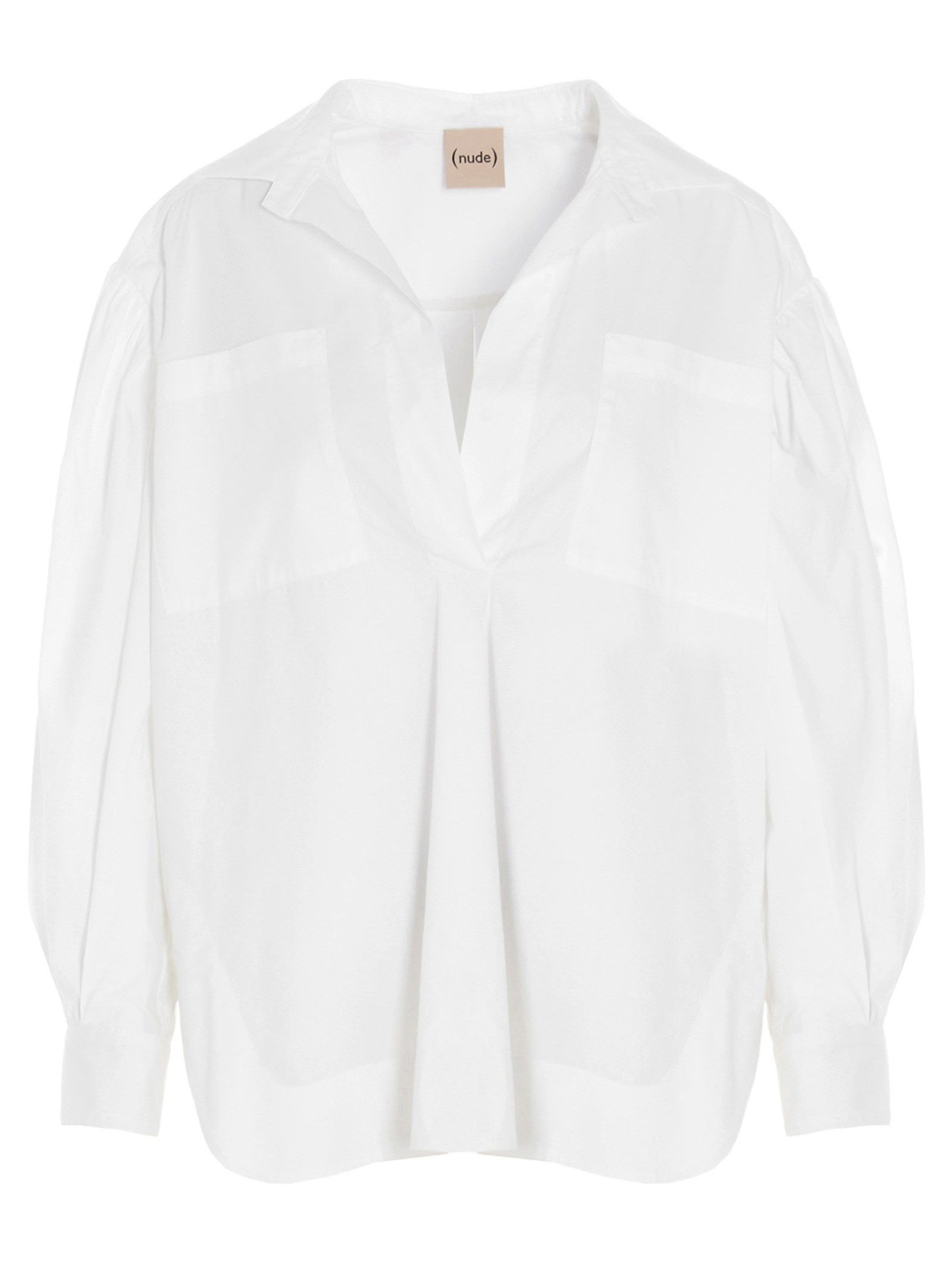 Nude NUDE WOMEN'S 110351201 WHITE OTHER MATERIALS SHIRT