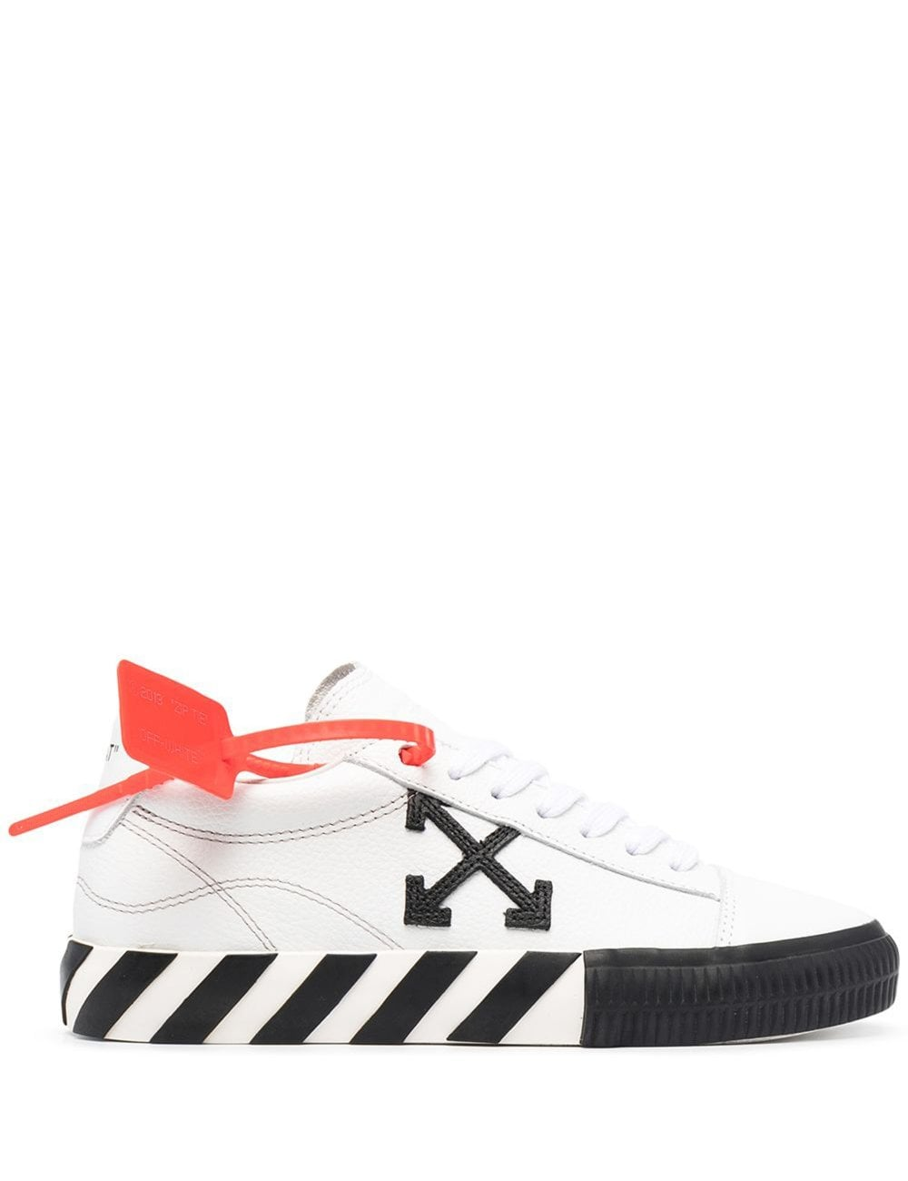 Off-White Low tops OFF-WHITE WOMEN'S VULCANIZED LOW TOP SNEAKER WHITE BLACK COLOUR: