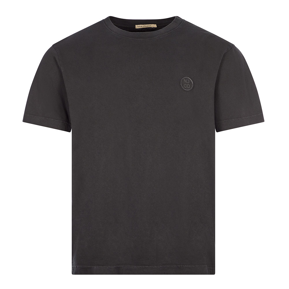 Nudie Jeans T-shirt Uno Njco Circle - Faded Black