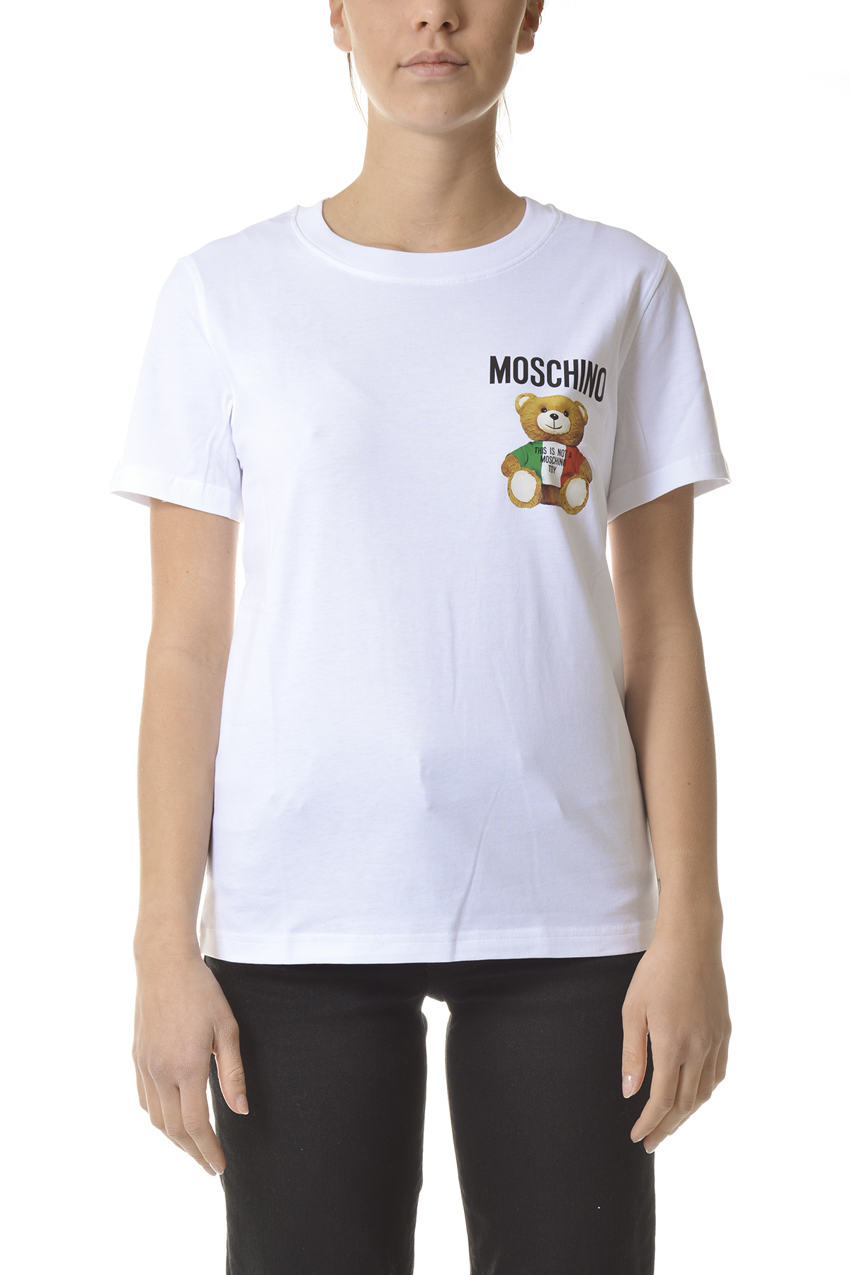 Moschino Cottons T-SHIRTS AND POLOS WHITE