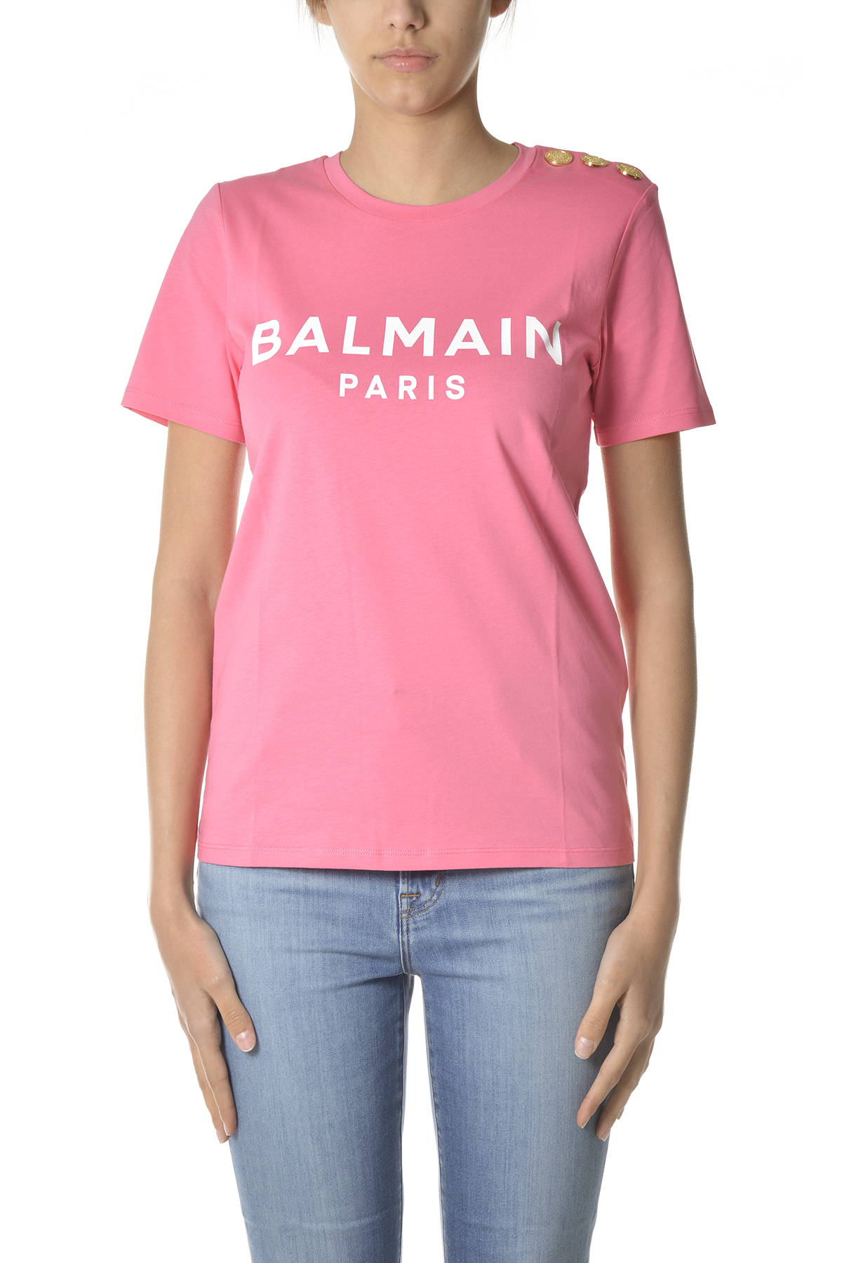 Balmain Cottons T-SHIRTS AND POLOS PINK