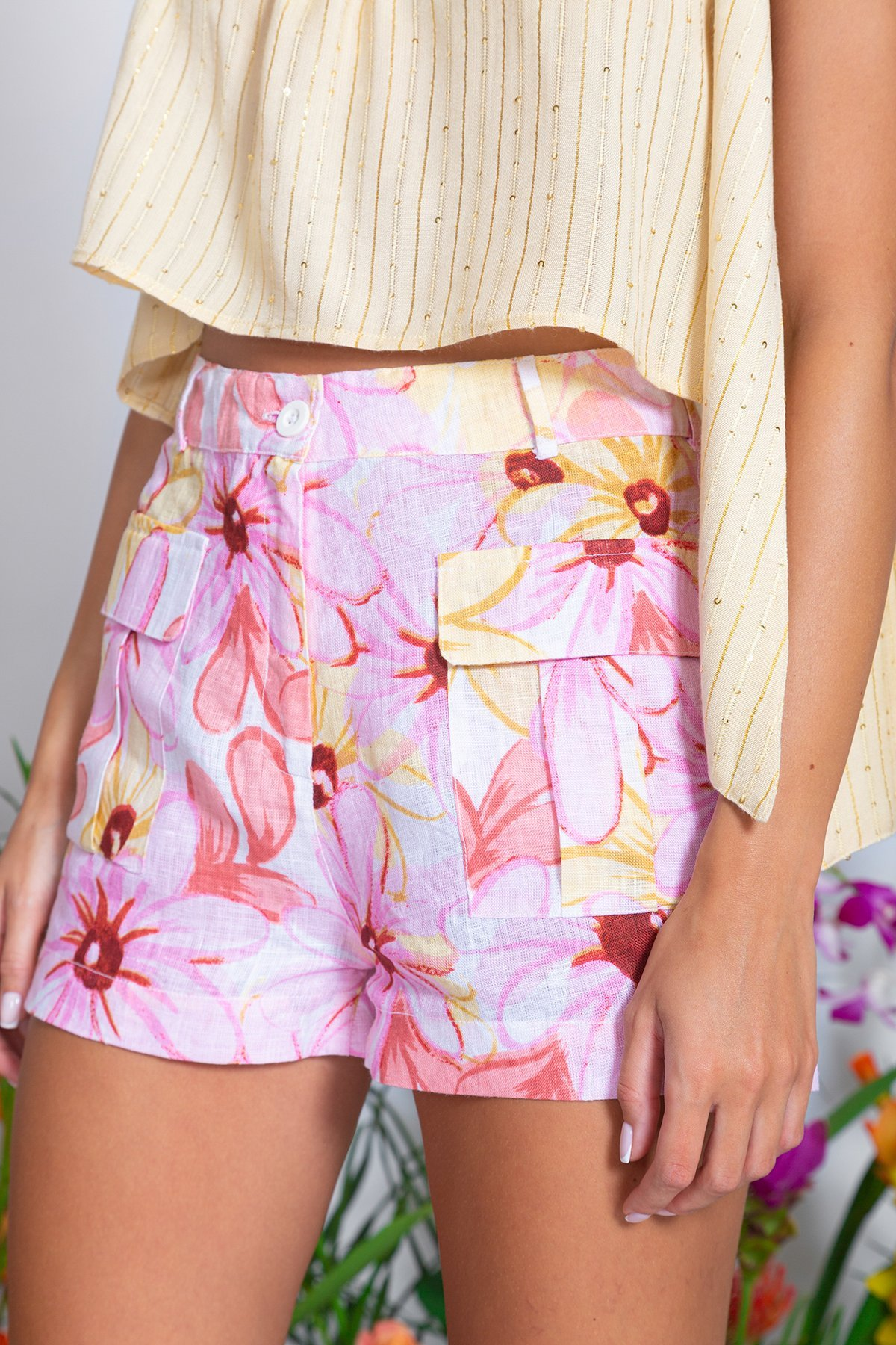 Sundress CHRIS LINEN SHORTS IN RIVIERA PRINT