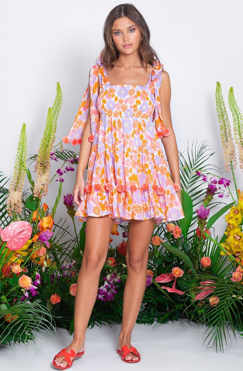 Sundress PIPPA MINI DRESS IN FLOWER PRINT