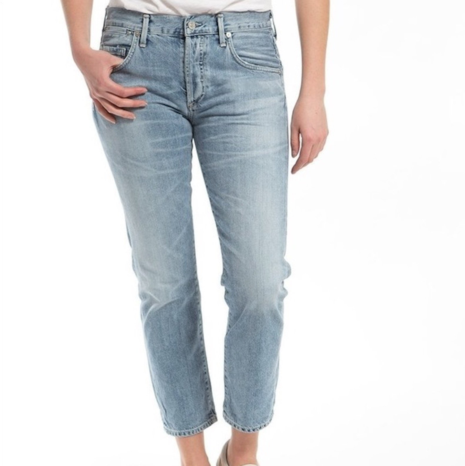 Citizens Of Humanity Emerson Sunday Morning Slim Fit Boyfriend Jeans In Blue