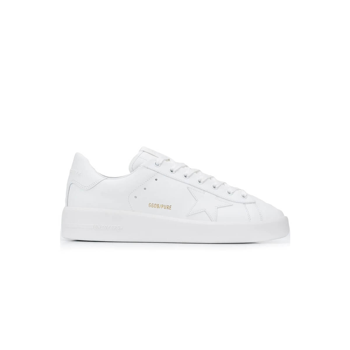 Golden Goose Lace-up Star Trainers In White