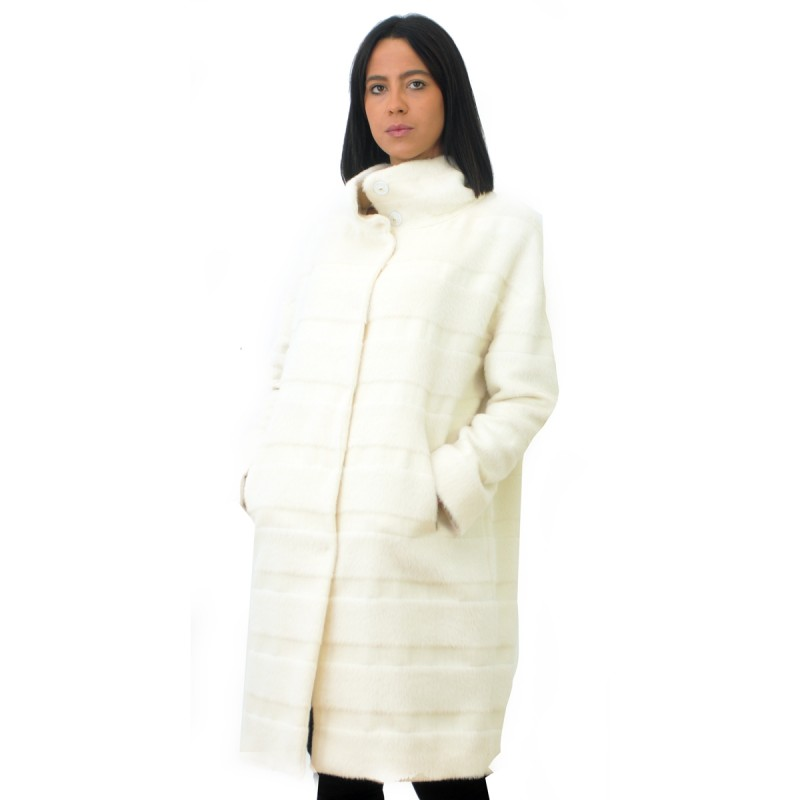 Herno Faux Fur Coat Ca011dr White