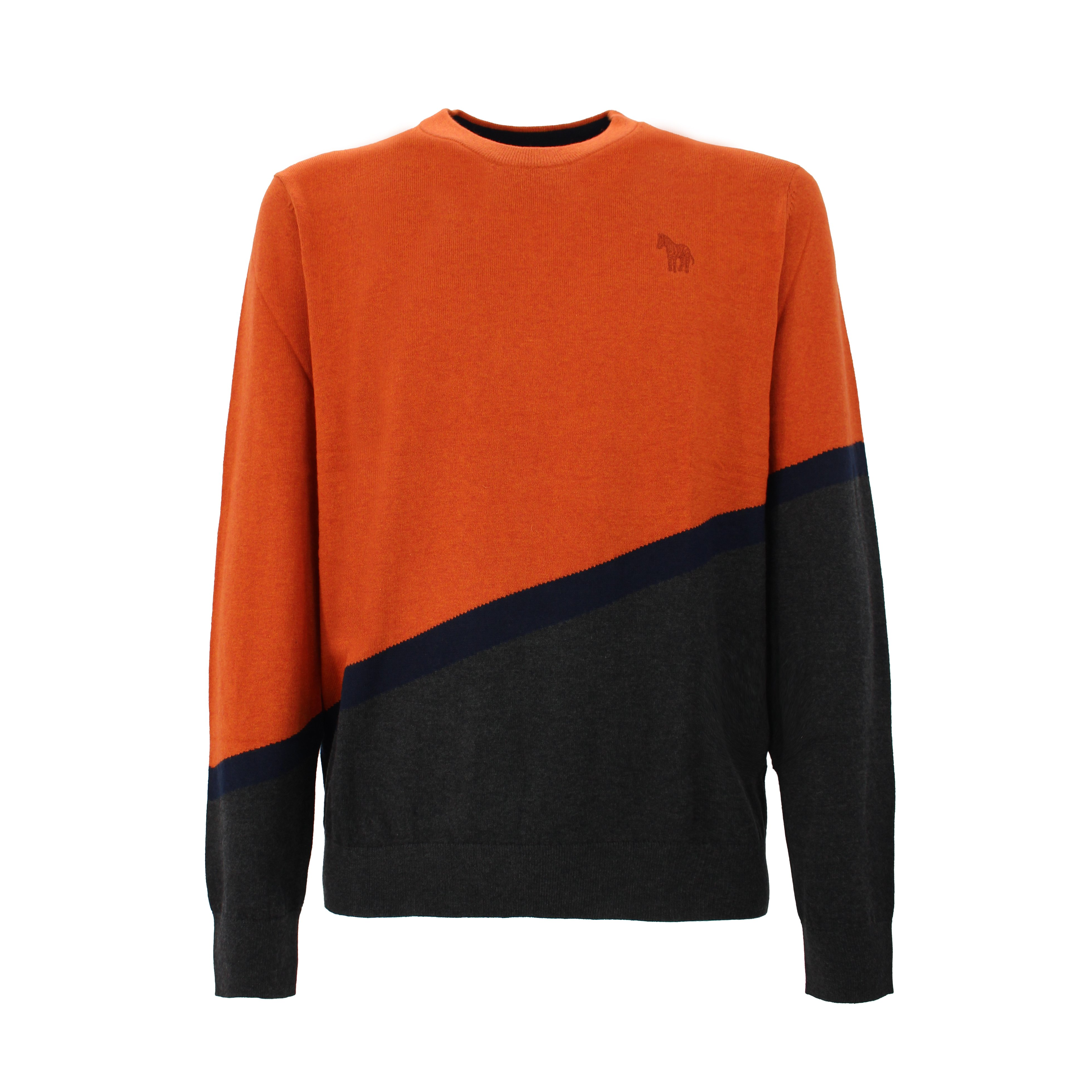Paul Smith Cottons PAUL SMITH DOUBLE COLOR SWEATER