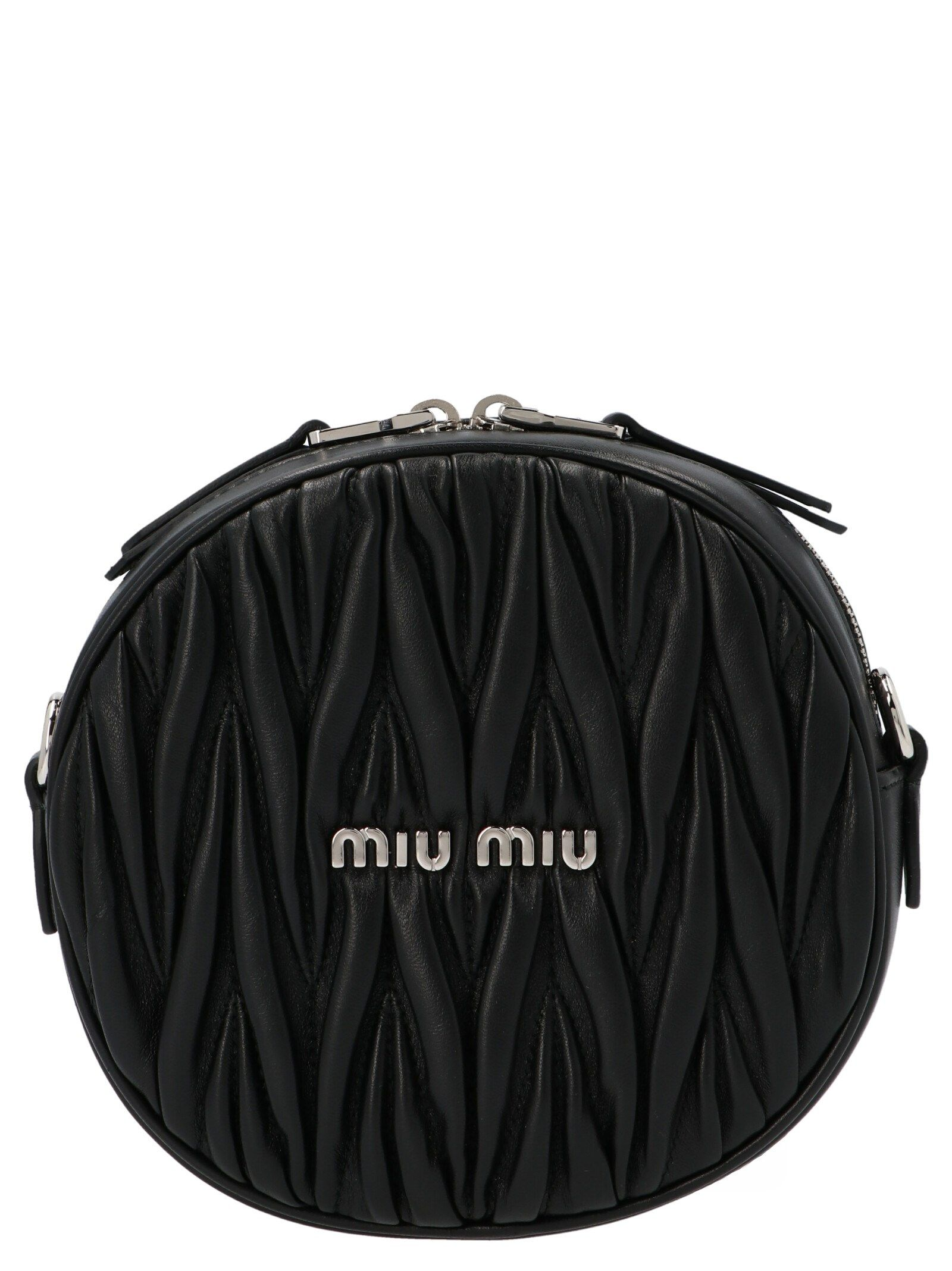 Miu Miu MIU MIU WOMEN'S 5BH1912CE3F0002 BLACK OTHER MATERIALS SHOULDER BAG