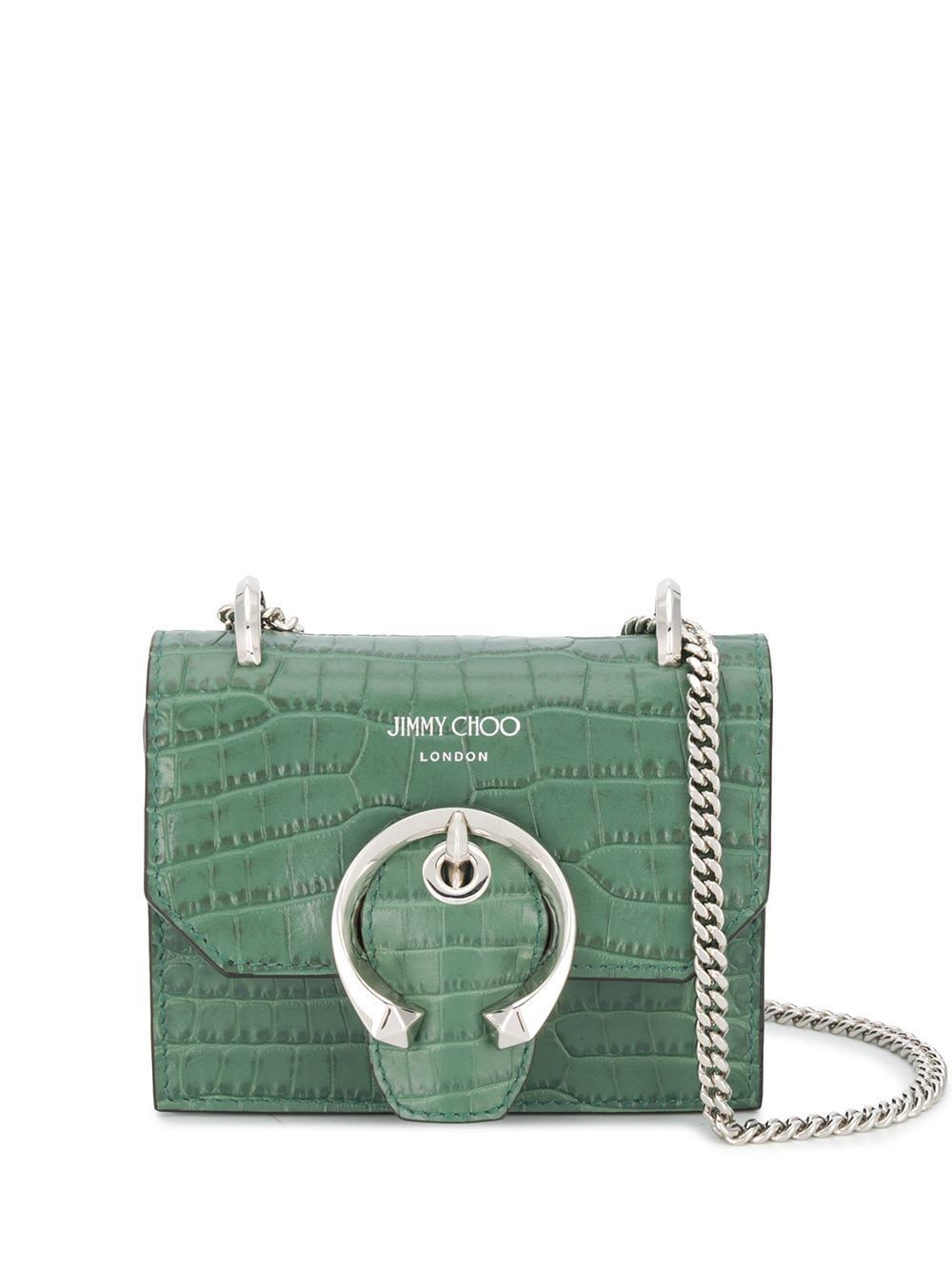 Jimmy Choo JIMMY CHOO WOMEN'S MINIPARISCCLCACTUS GREEN LEATHER SHOULDER BAG