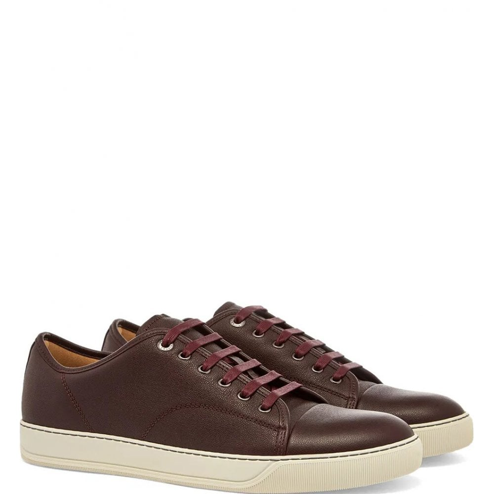 Lanvin Leathers DBBI1 LOW TOP TRAINERS COLOUR: BURGUNDY
