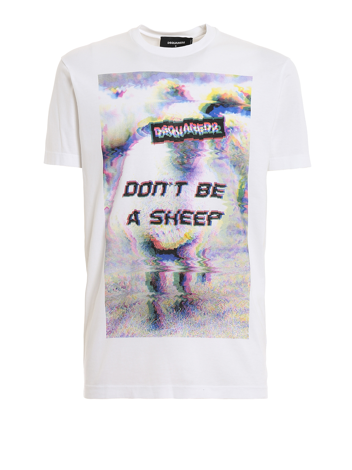 Dsquared2 Blurry Print T-shirt In Green,white
