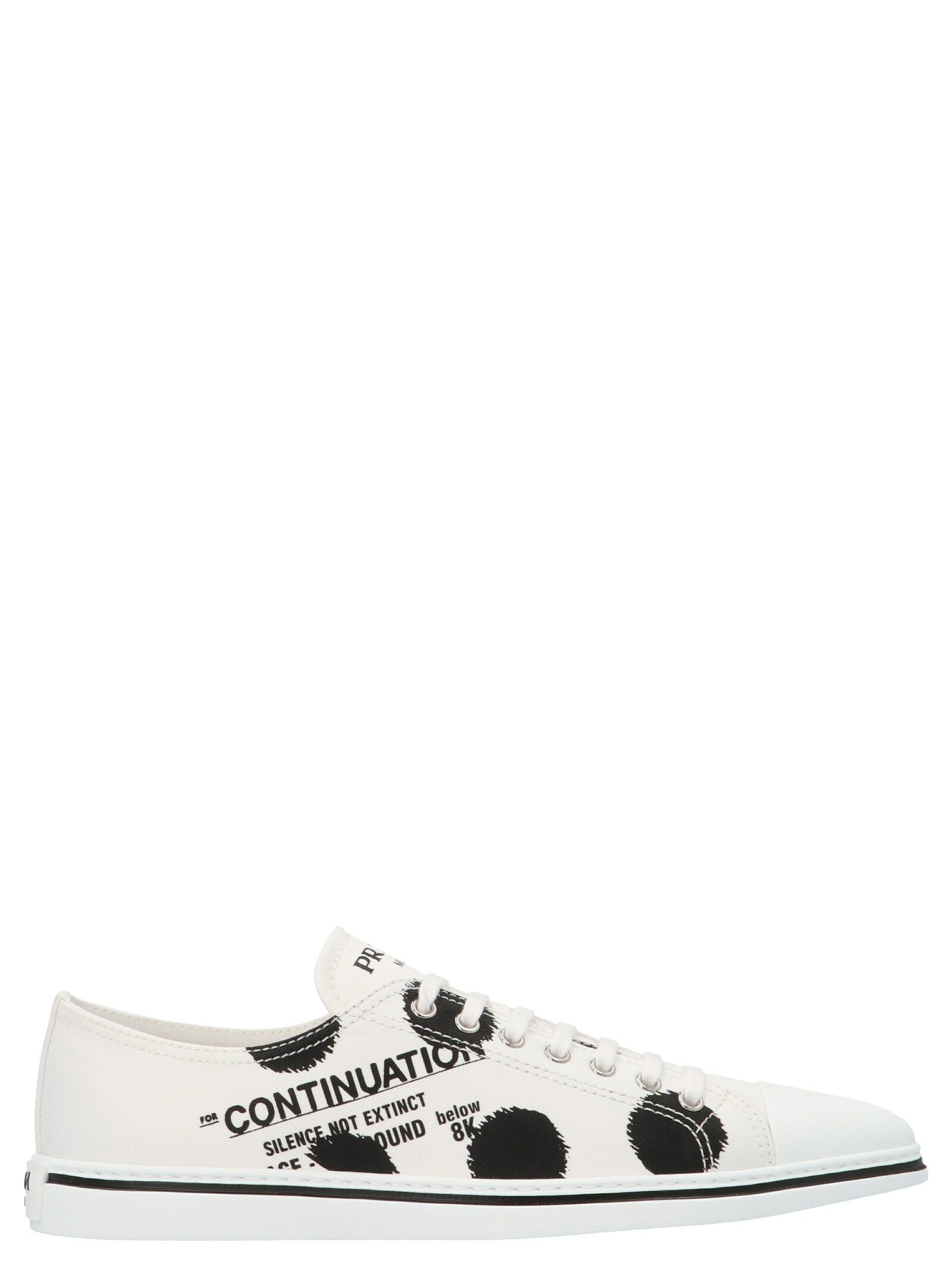 Prada PRADA WOMEN'S 1E617M3LFKF0009 WHITE OTHER MATERIALS SNEAKERS