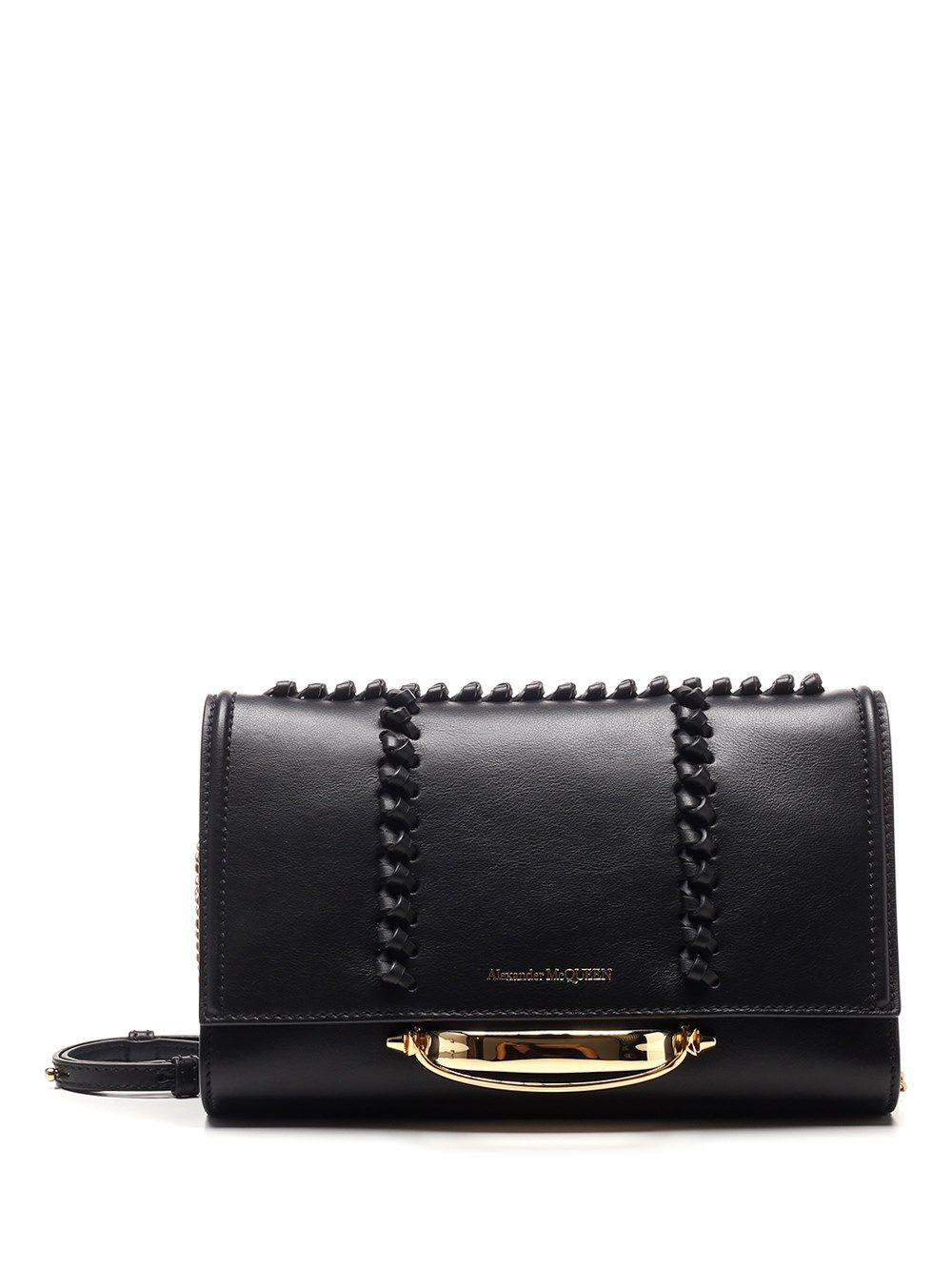 ALEXANDER MCQUEEN ALEXANDER MCQUEEN WOMEN'S 6530181LYA71000 BLACK OTHER MATERIALS SHOULDER BAG