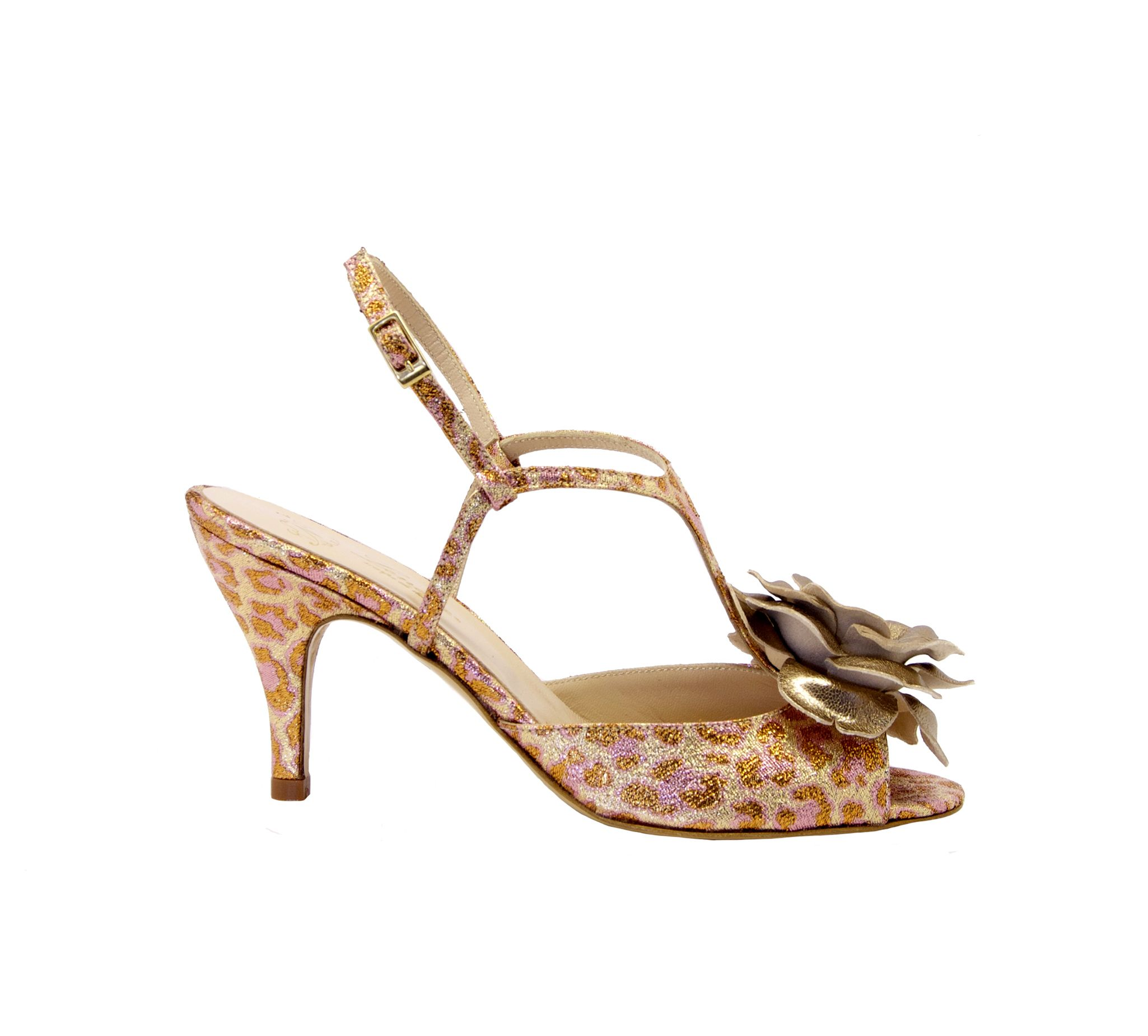 Lenora LENORA WOMEN'S SAMBALEOCIPRIA PINK LEATHER SANDALS