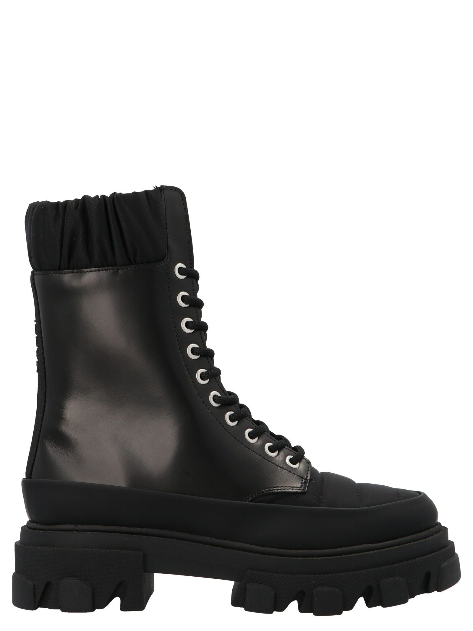 Ganni GANNI WOMEN'S S1409099 BLACK OTHER MATERIALS ANKLE BOOTS