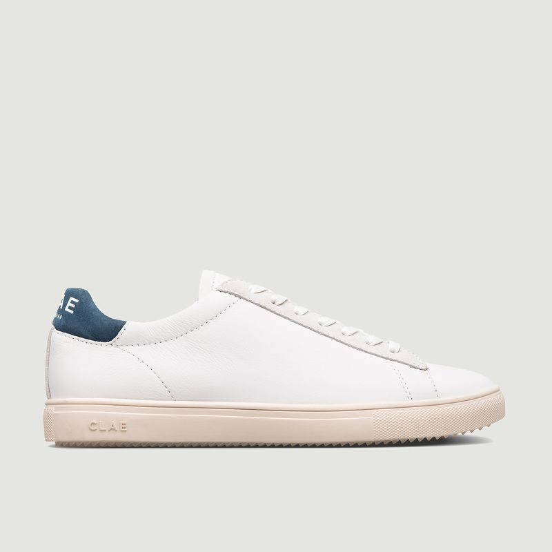 Clae BRADLEY SNEAKERS WHITE LEATHER ENSIGN BLUE CLAE