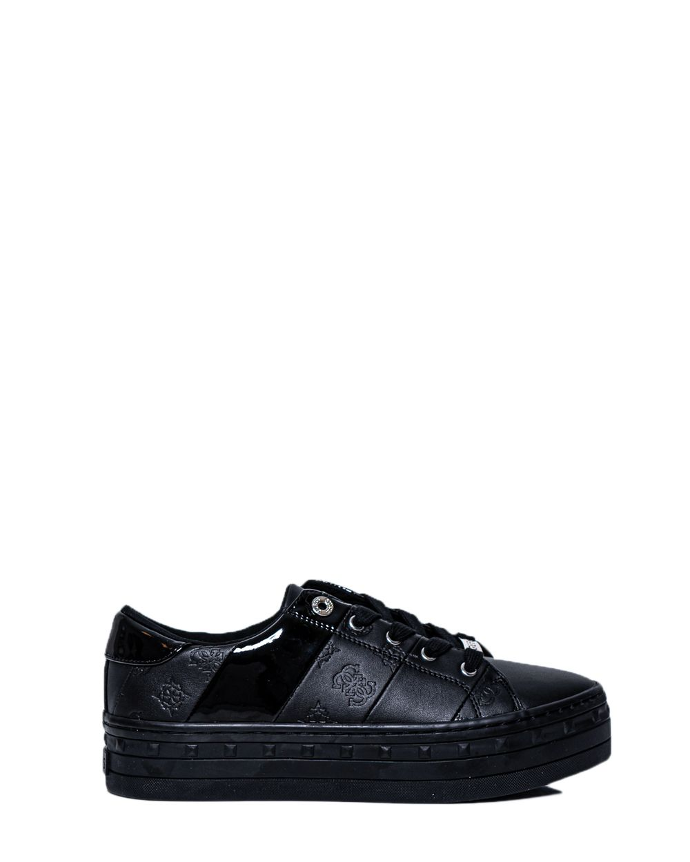 Guess GUESS WOMEN'S FL8BUSFAL12BLACK BLACK LEATHER SNEAKERS