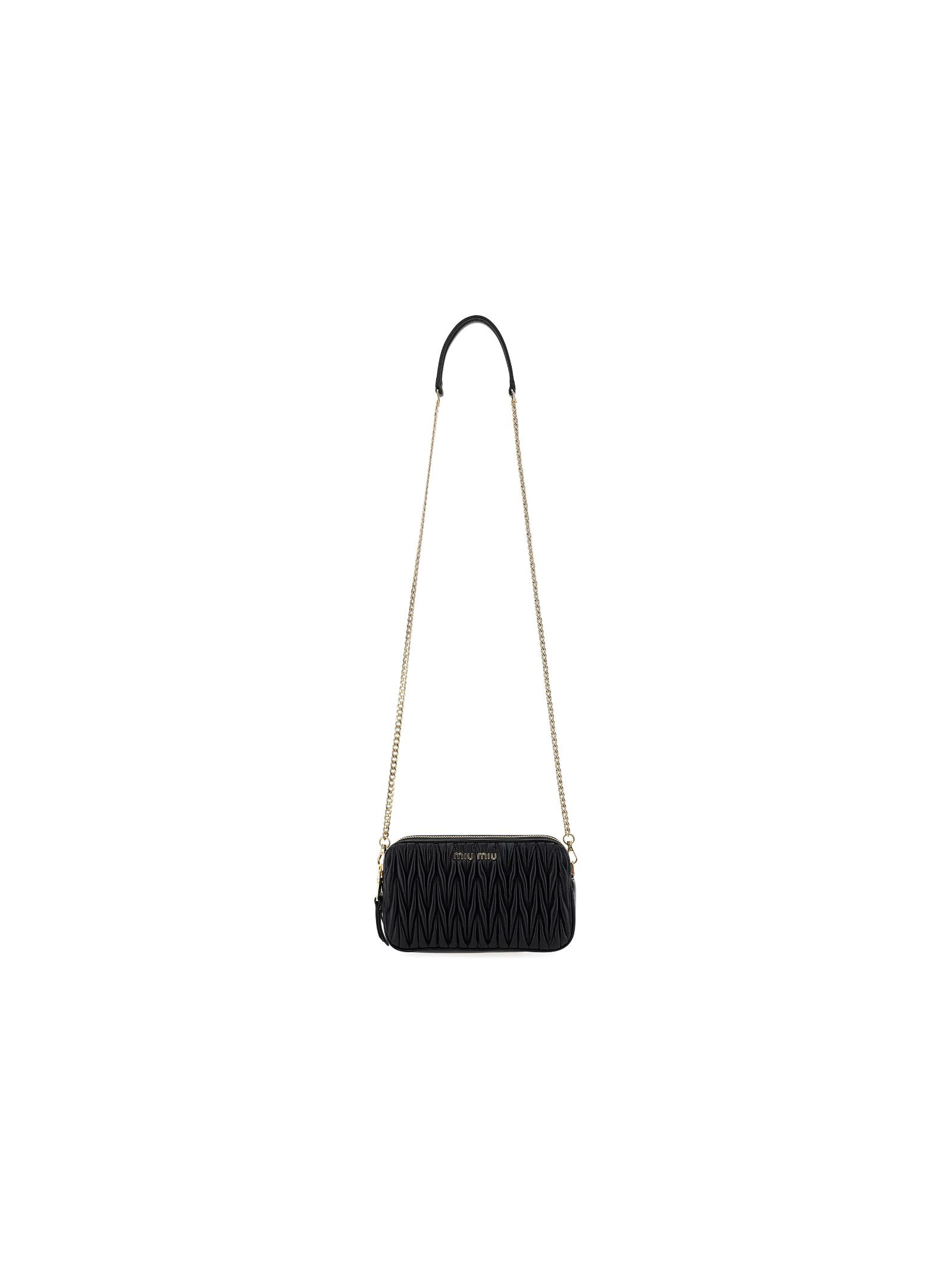 Miu Miu MIU MIU WOMEN'S 5BP045N88F0002 BLACK OTHER MATERIALS SHOULDER BAG