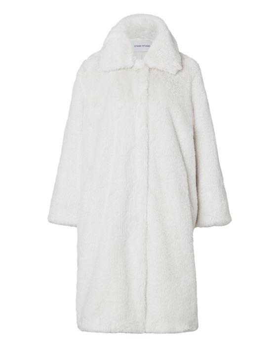 Stand Maxine Faux Fur Coat - White