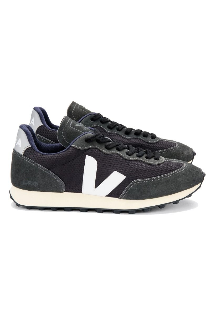 Veja Activewears RIO BRANCO TRAINERS - BLACK WHITE OXFORD GREY