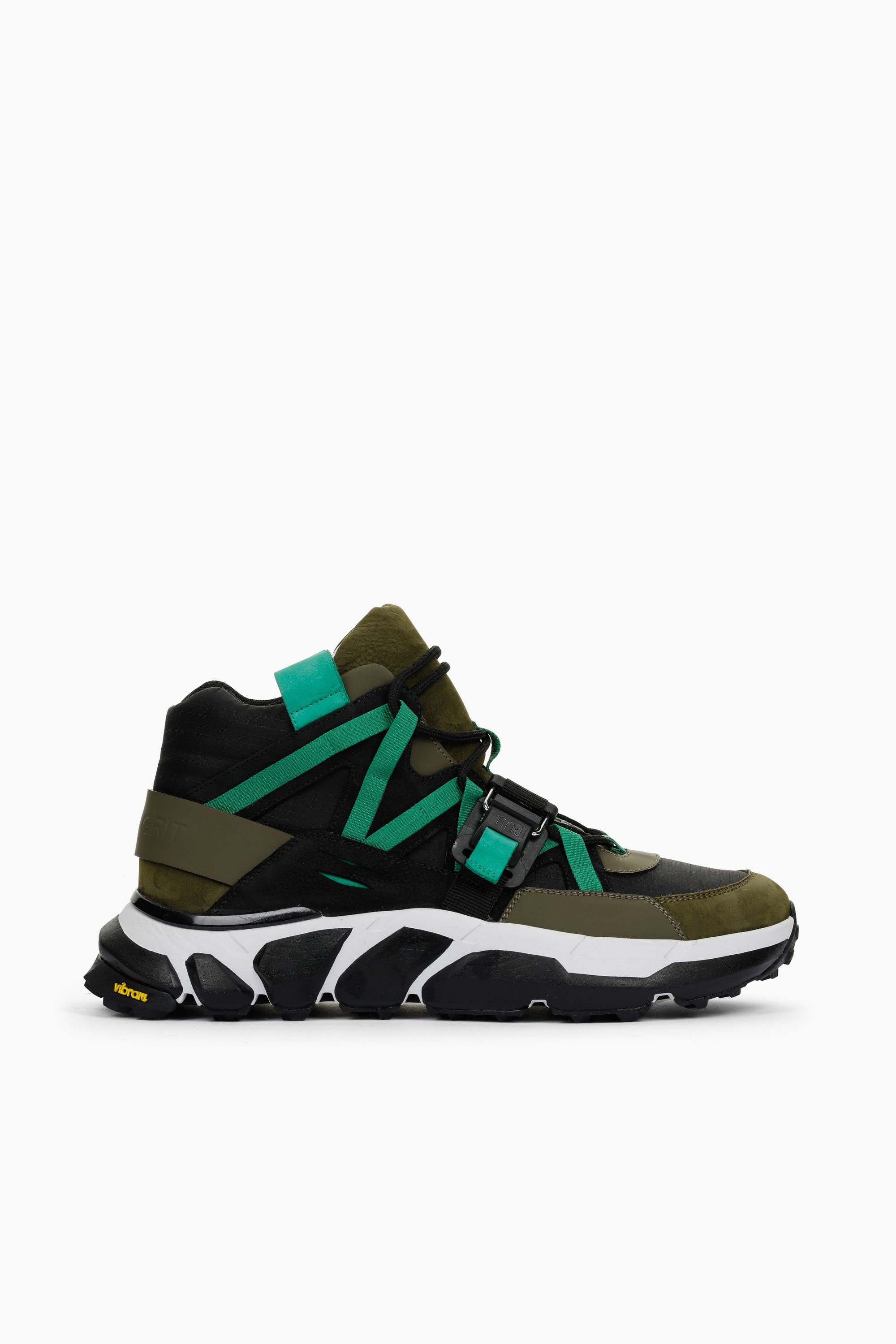 Soho Grit Leathers THE ARCHER HIGH GREEN